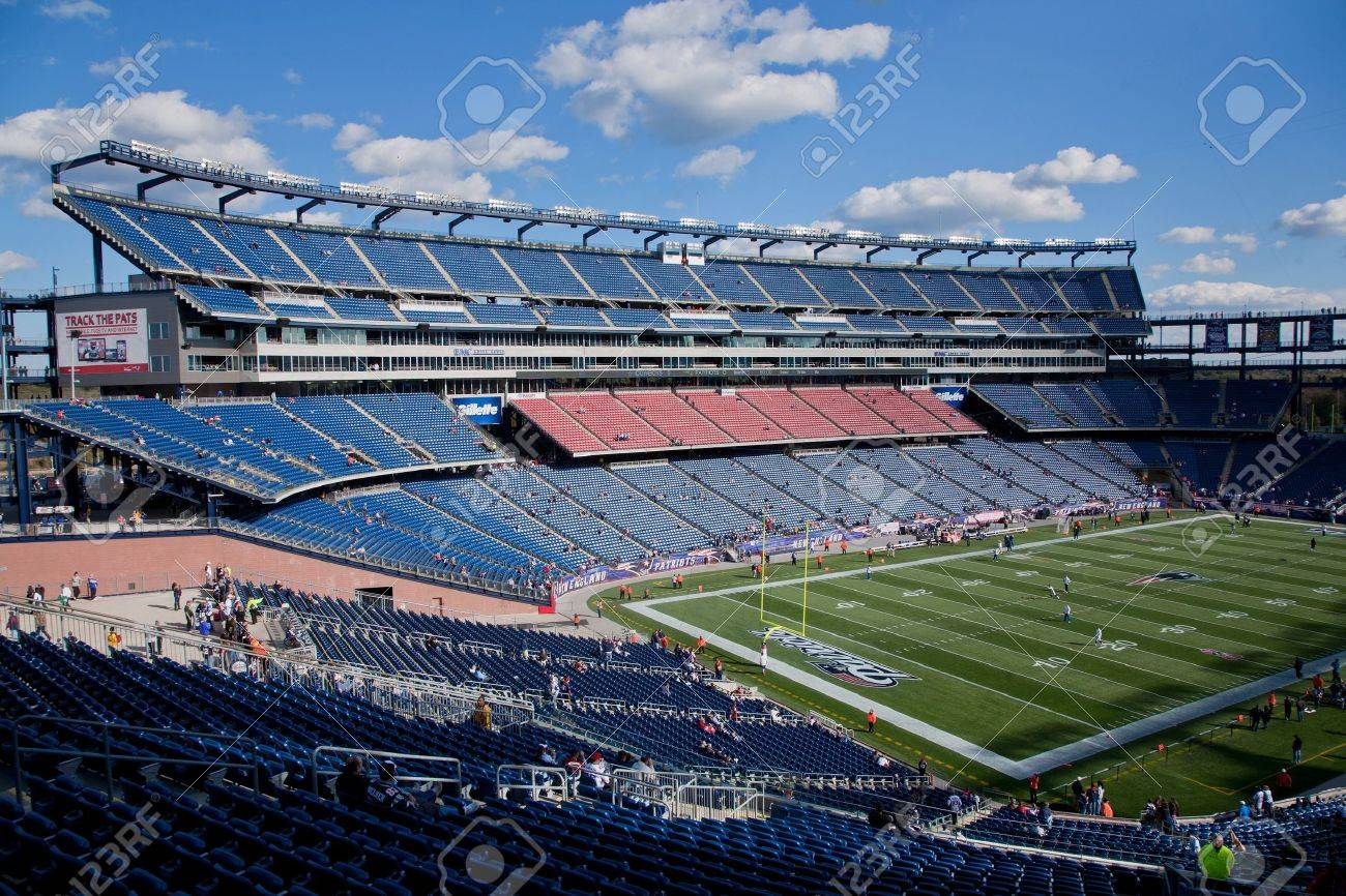 6c2dd6fe2b3 Gillette Stadium, home of NFL Super Bowl champs, New England Patriots Stock  Photo -