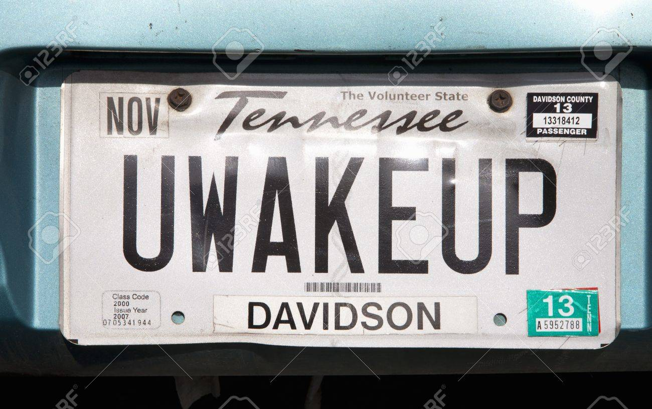 Tennessee License Plate Of A Vehicle In TN Stock Photo, Picture ...