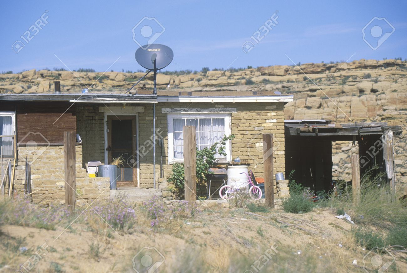 Excellent Adobe Home With Satellite Dish In Hopi Mesa Oldest Community Interior Design Ideas Inesswwsoteloinfo