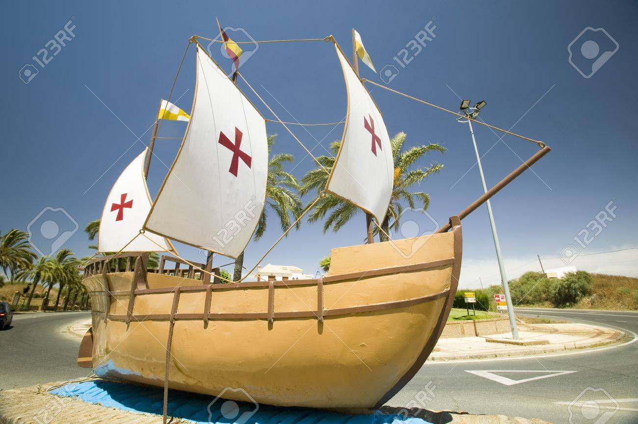 the model of the santa maria sailing ship used by christopher