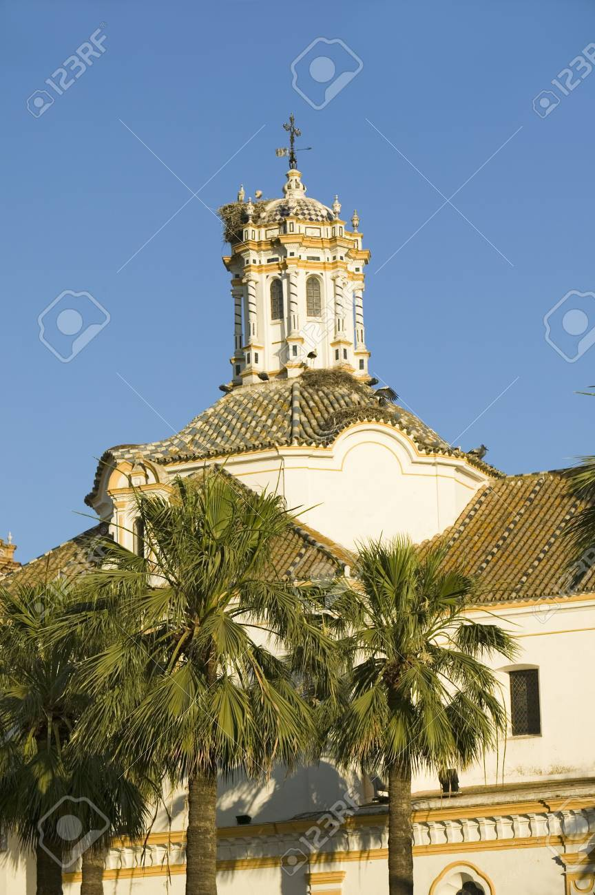 Storks Nest On White Cathedral Tower With Beautiful Sunlight Stock Photo Picture And Royalty Free Image Image 20801239