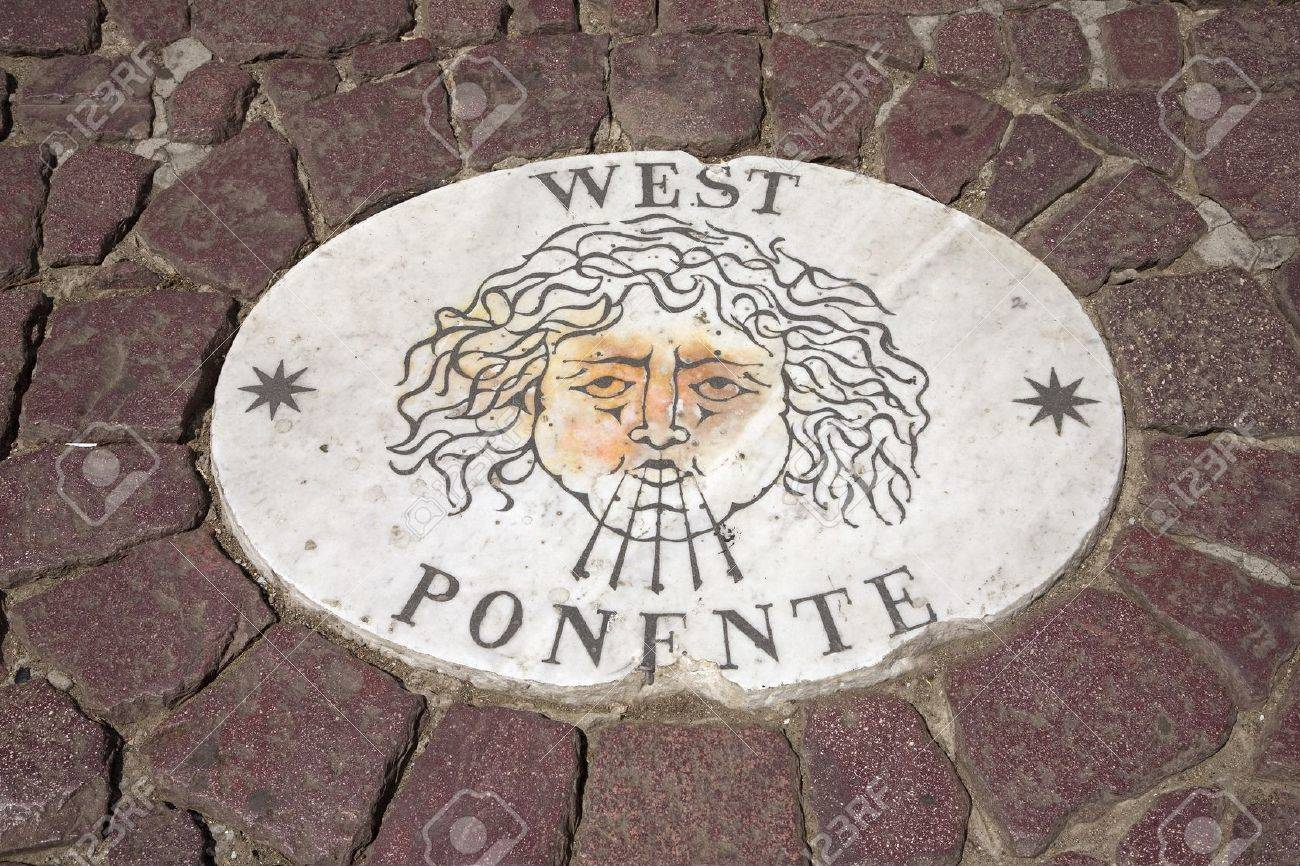 Symbol For West Ponente Who Blows Winds From The West In St