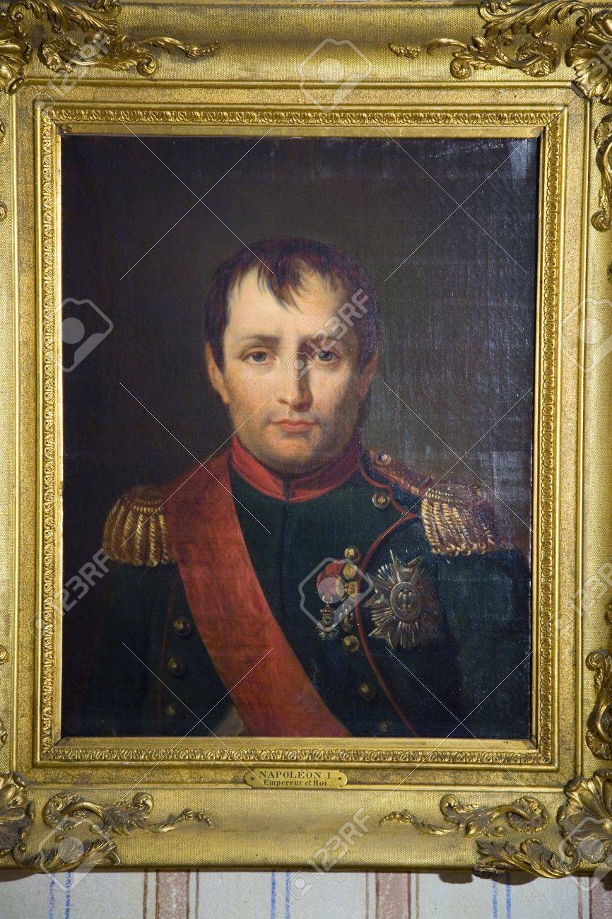 Peinture De Napoleon A La Maison Natale De Napoleon Bonaparte Sur La Mer Mediterranee Corse France Europe Banque D Images Et Photos Libres De Droits Image 20802015