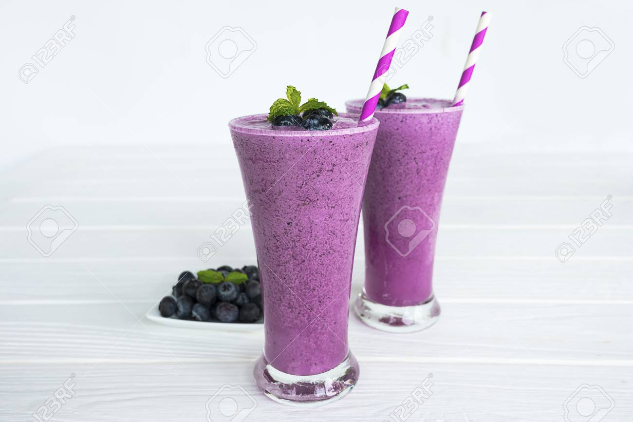 Blueberry Fruit Smoothie And Blueberry Fruit For Weight Loss Stock Photo Picture And Royalty Free Image Image 89719911