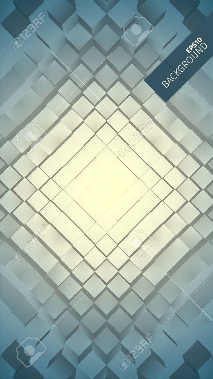 Abstract geometric vector background  Grid of boxes  Angular