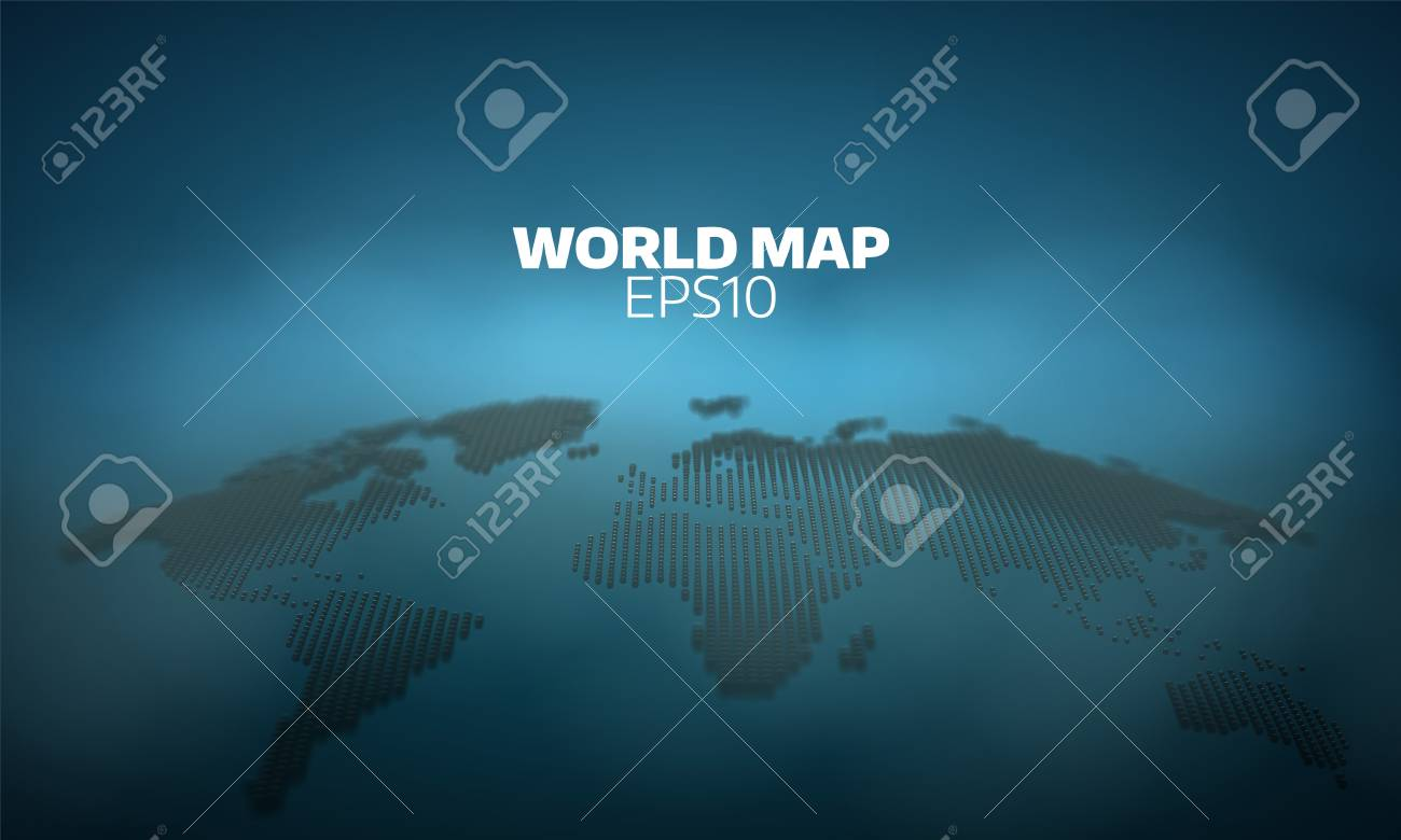 Abstract world map dot grid background  geography atlas