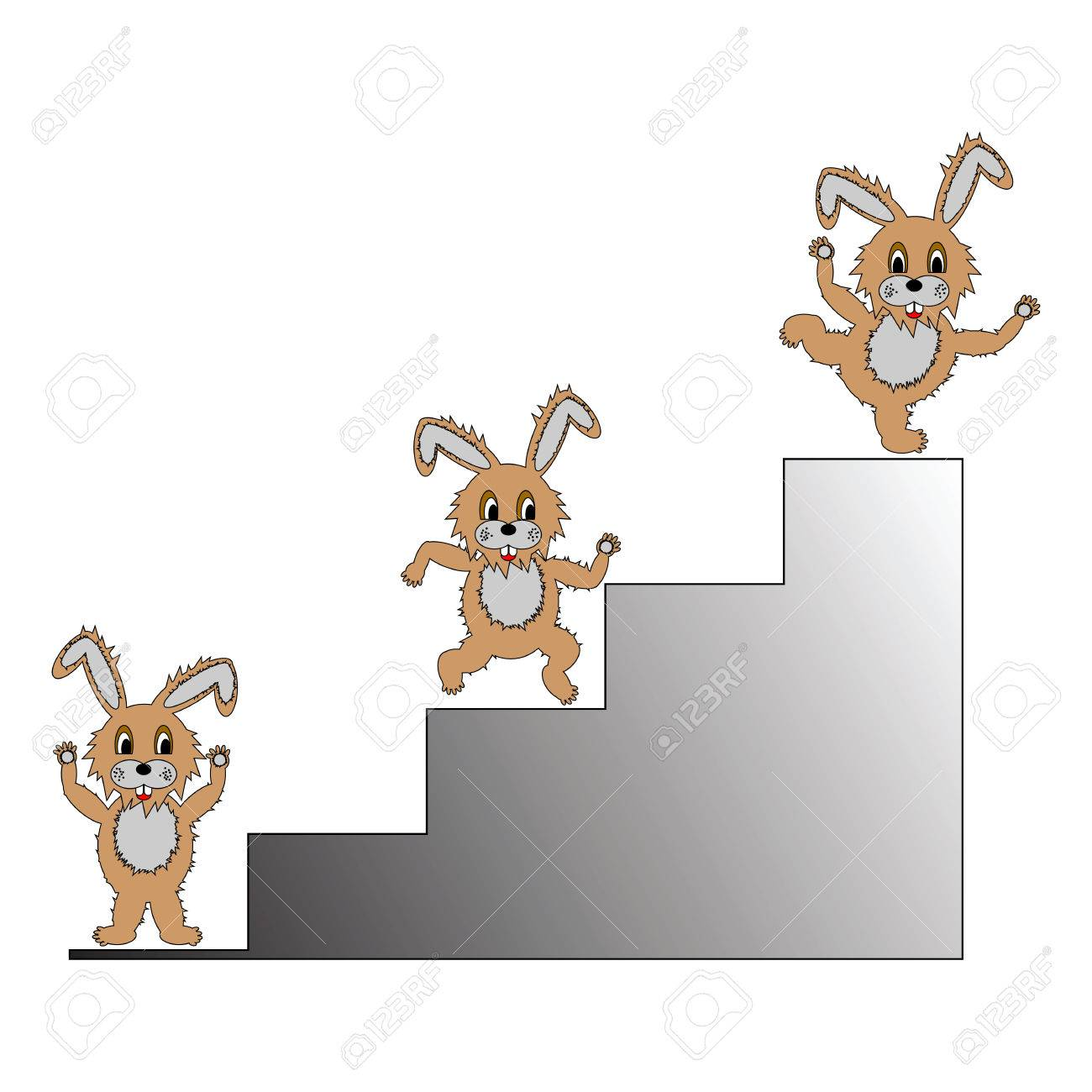 a funny cartoon rabbit climbing up on a ladder a symbol of success royalty free cliparts vectors and stock illustration image 24156519 123rf com