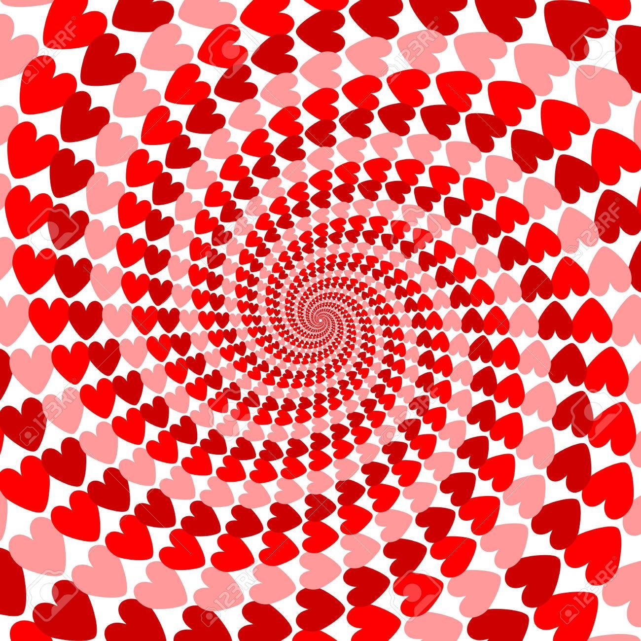 Diseño De Rayas Rojas Hélice Corazón El Movimiento De Fondo Tarjeta