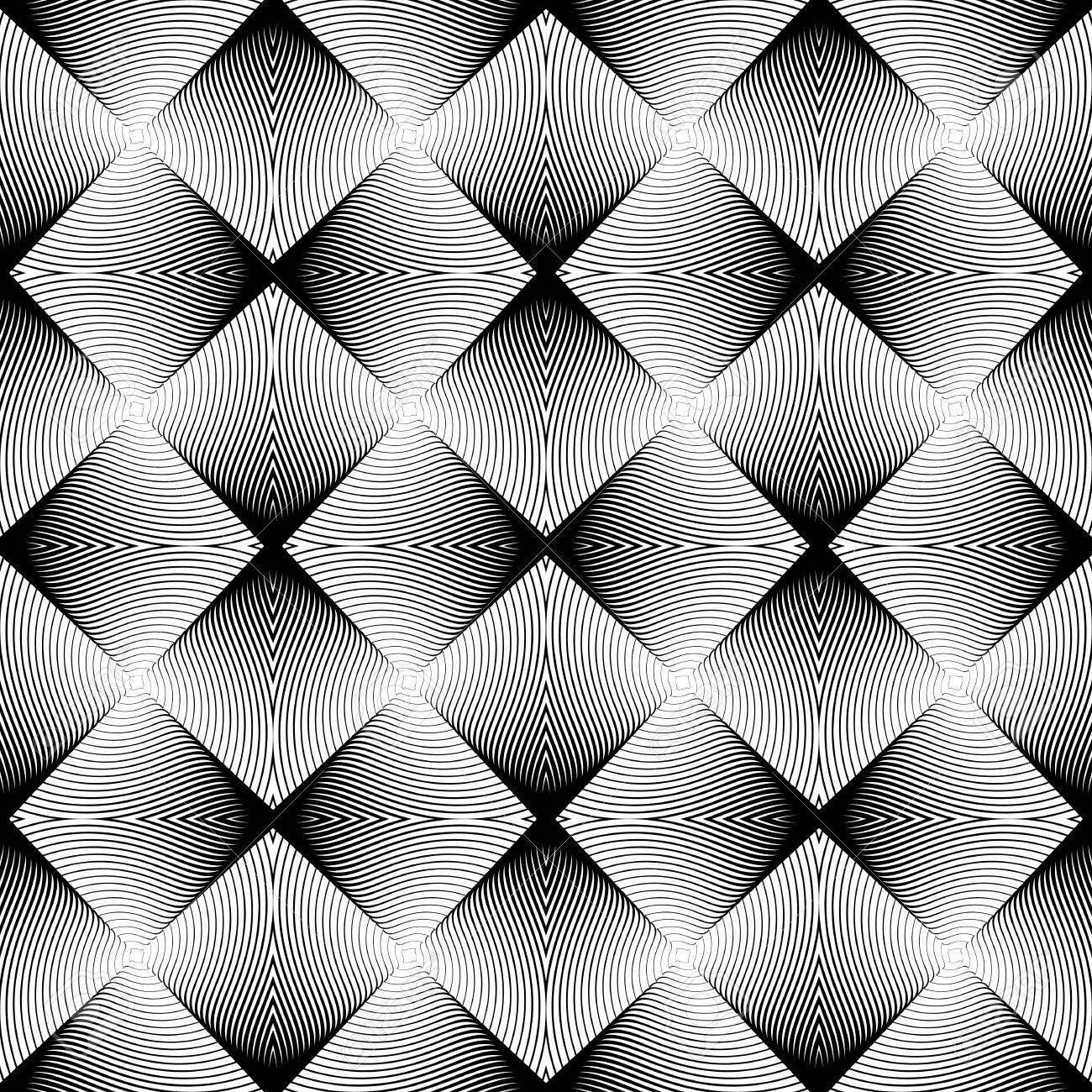 Diseño Sin Fisuras Patrón Geométrico Sin Color. Resumen De Diamantes ...