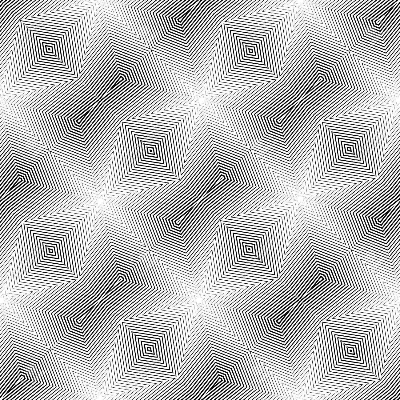 Diseño Monocromático Sin Patrón Geométrico Diagonal. Líneas De ...
