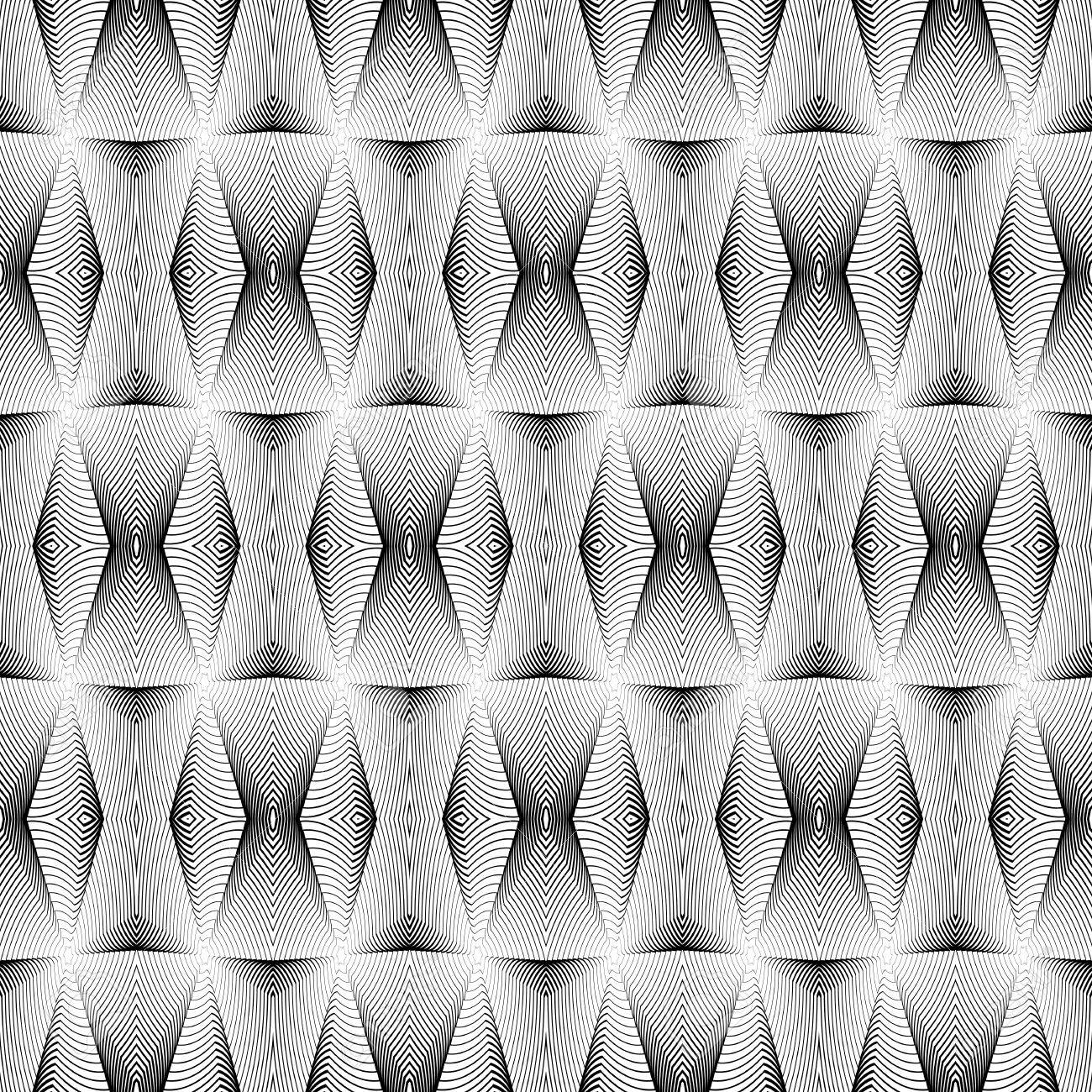 Diseño Blanco Y Negro Sin Fisuras Patrón Geométrico. Líneas De ...