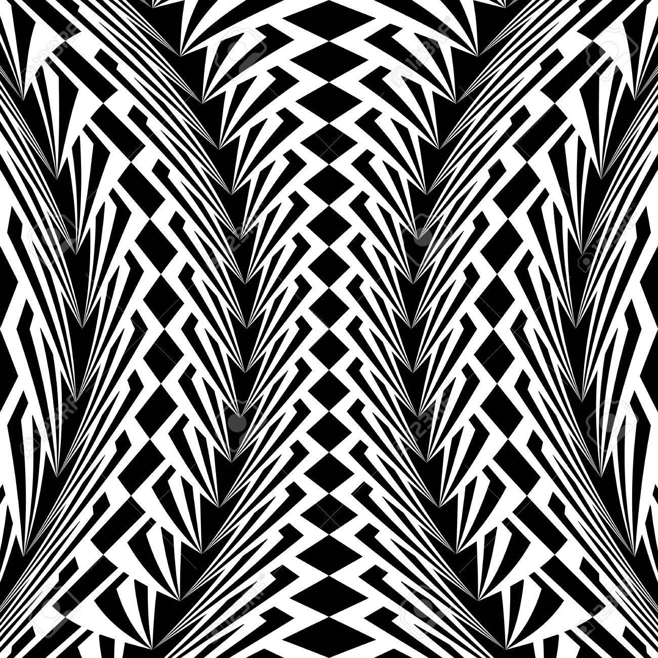 Disegni Geometrici Bianco E Nero disegno in bianco e nero deformato disegno geometrico verticale. priorità  stripy sfondo con texture. vector art. nessuna sfumatura