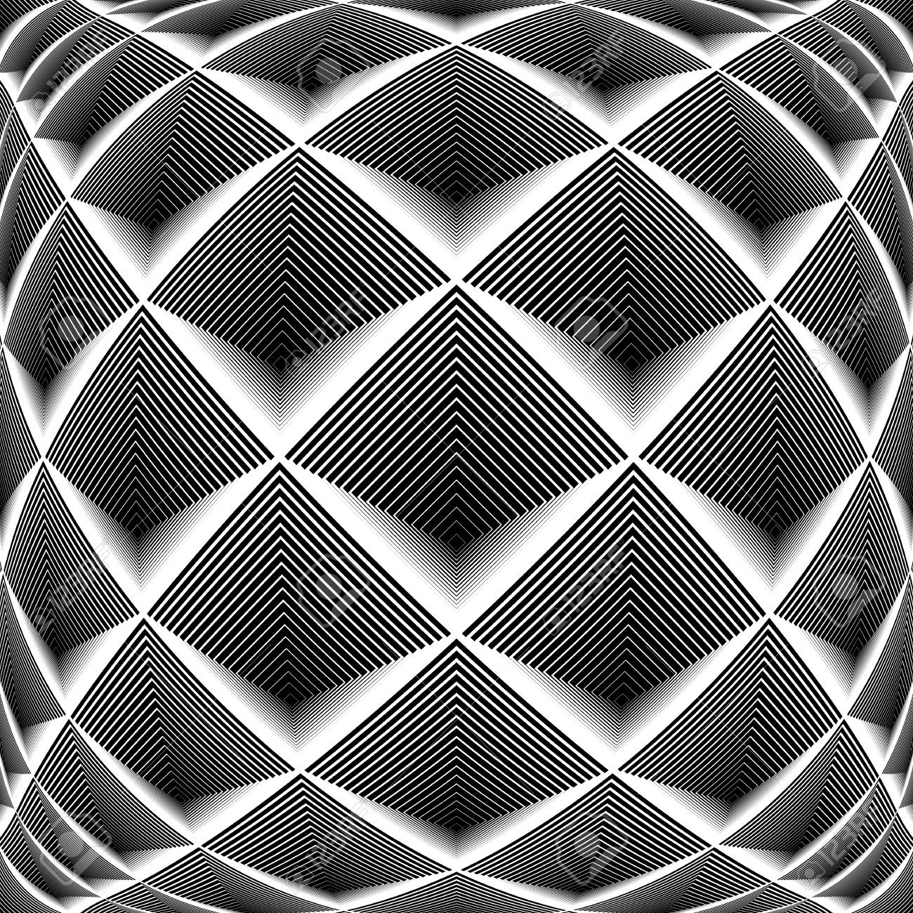 Disegni Geometrici Bianco E Nero disegno in bianco e nero diamante disegno geometrico. priorità bassa a  strisce sfondo con texture. vector art. nessuna sfumatura