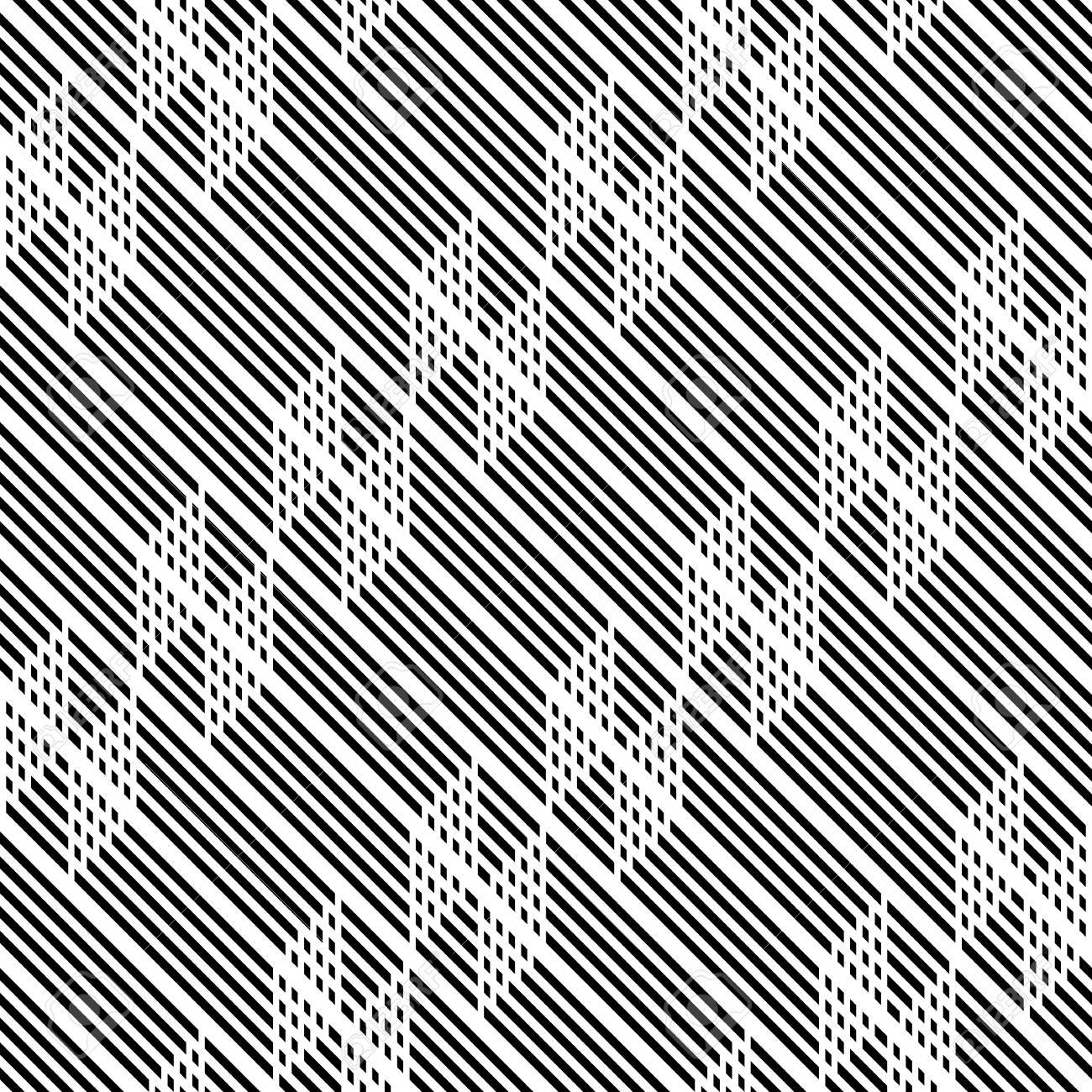 Design seamless monochrome zigzag pattern. Abstract background. Vector art - 125247561