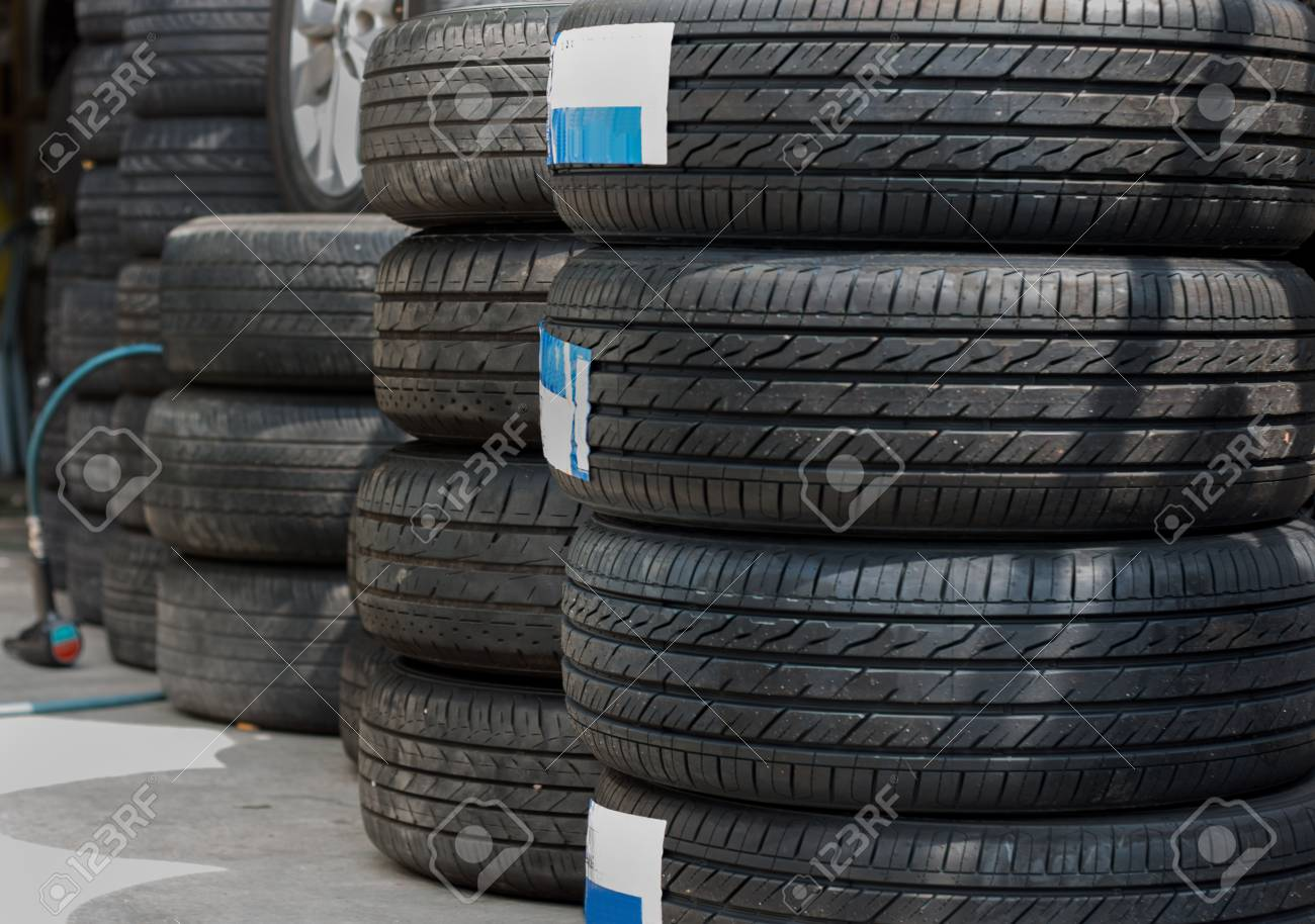 Used Car Tires >> New And Used Car Tyres Shown At Tyre Shop