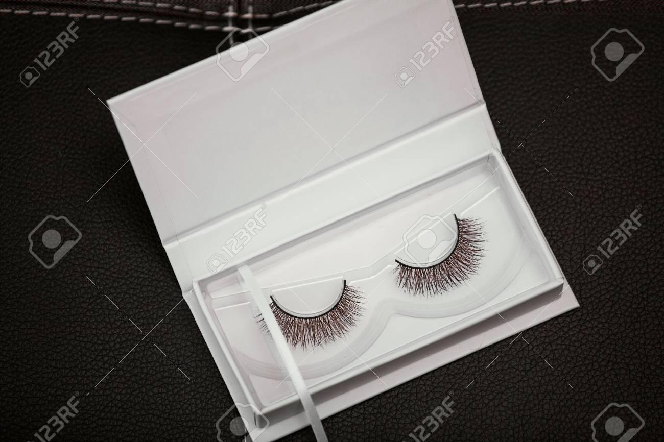 False Eyelashes in box Stock Photo - 73489470