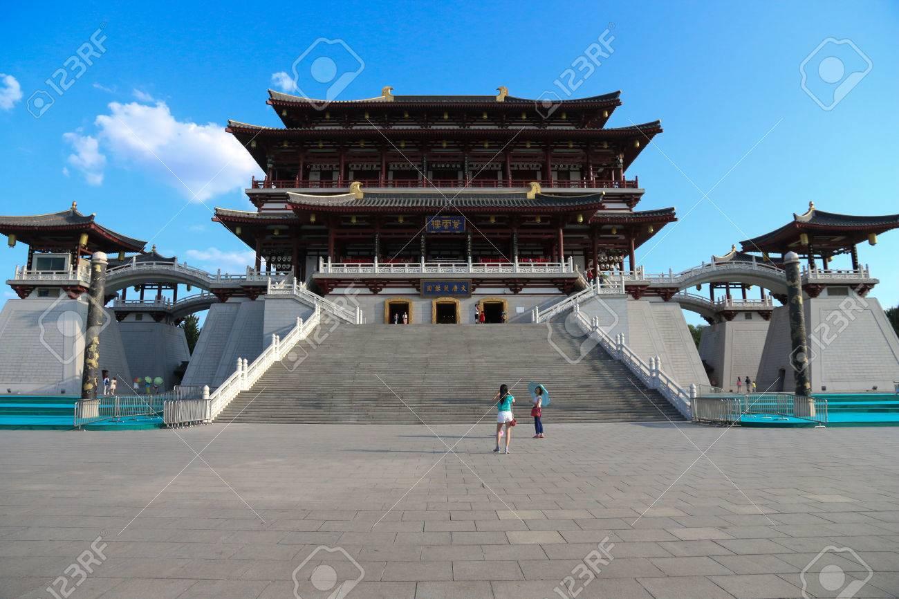 唐王朝の宮殿 の写真素材・画像...