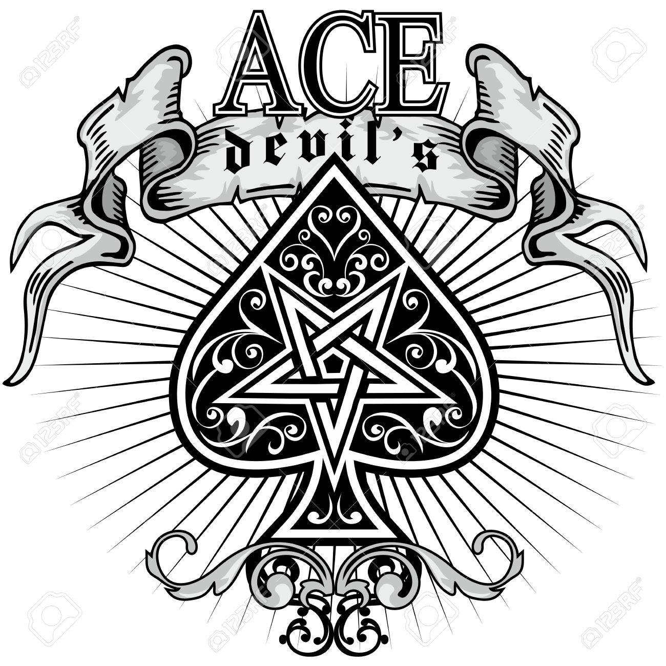 Ace of spades stock vector 66528292