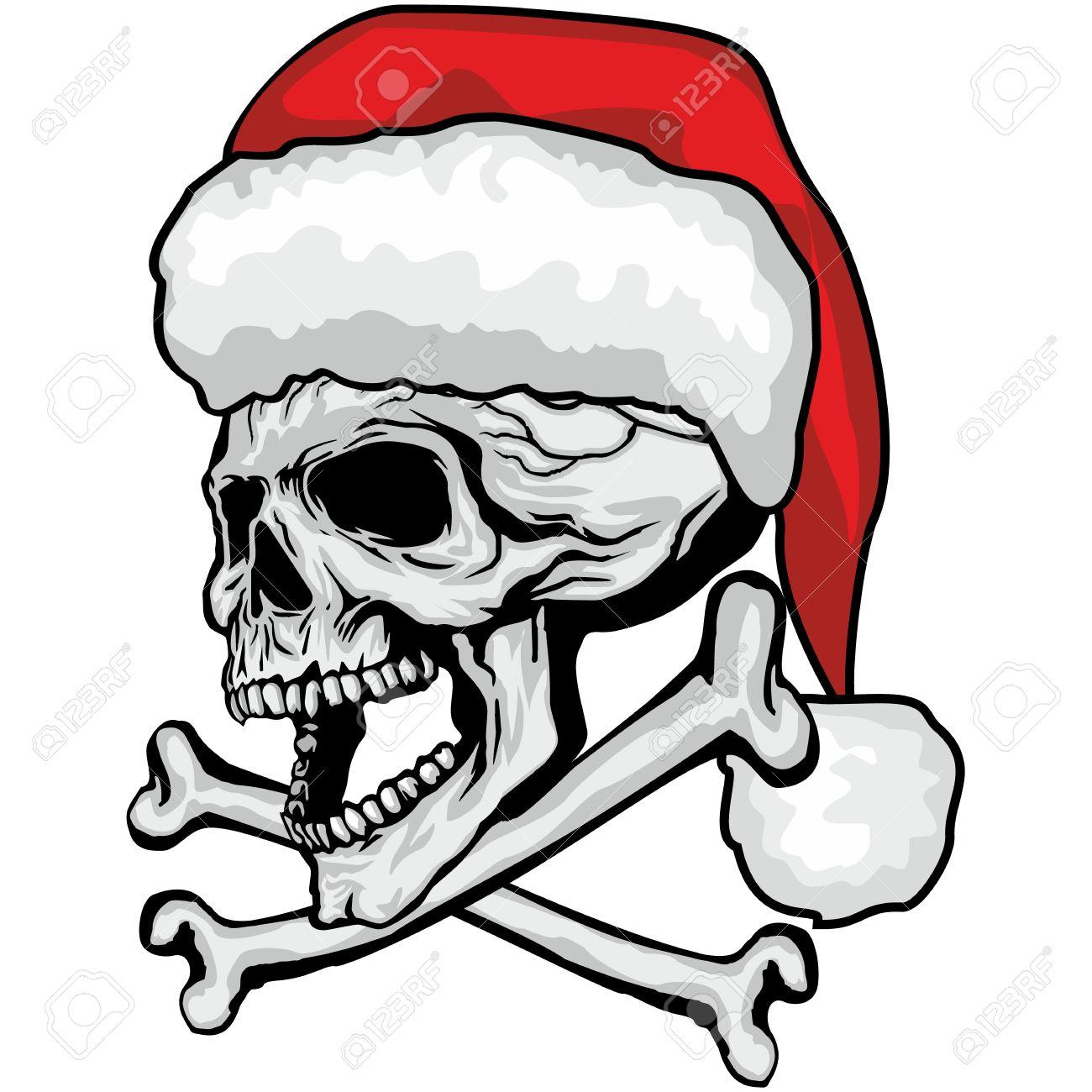 Weihnachten Schädel-grunge.vintage Entwurf T-shirts Lizenzfrei ...