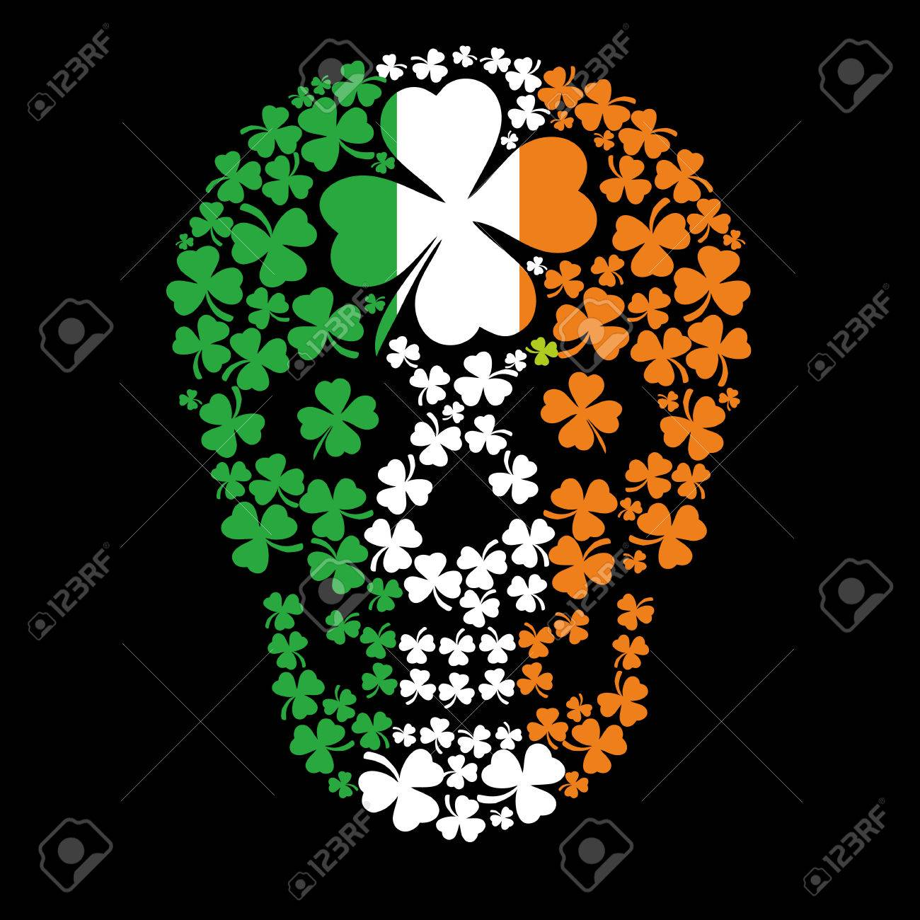 Irish coat of arms with skull and clover grunge vintage design irish coat of arms with skull and clover grunge vintage design t shirts stock vector buycottarizona Images