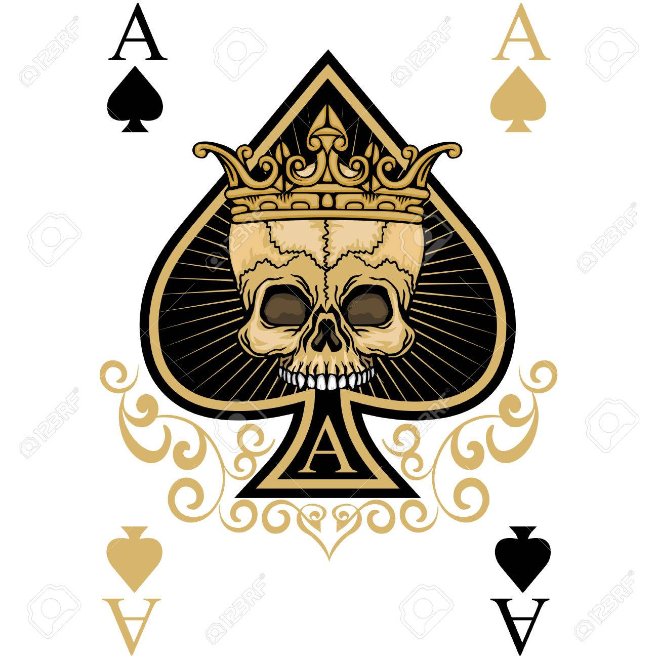 grunge skull coat of arms - 76489021
