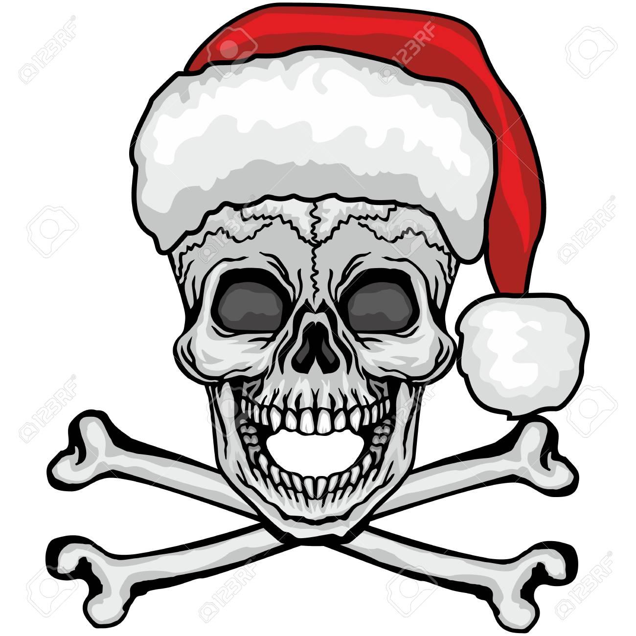 Cráneo De Navidad Escudo De Armas Gótico Con Calavera Camisetas De