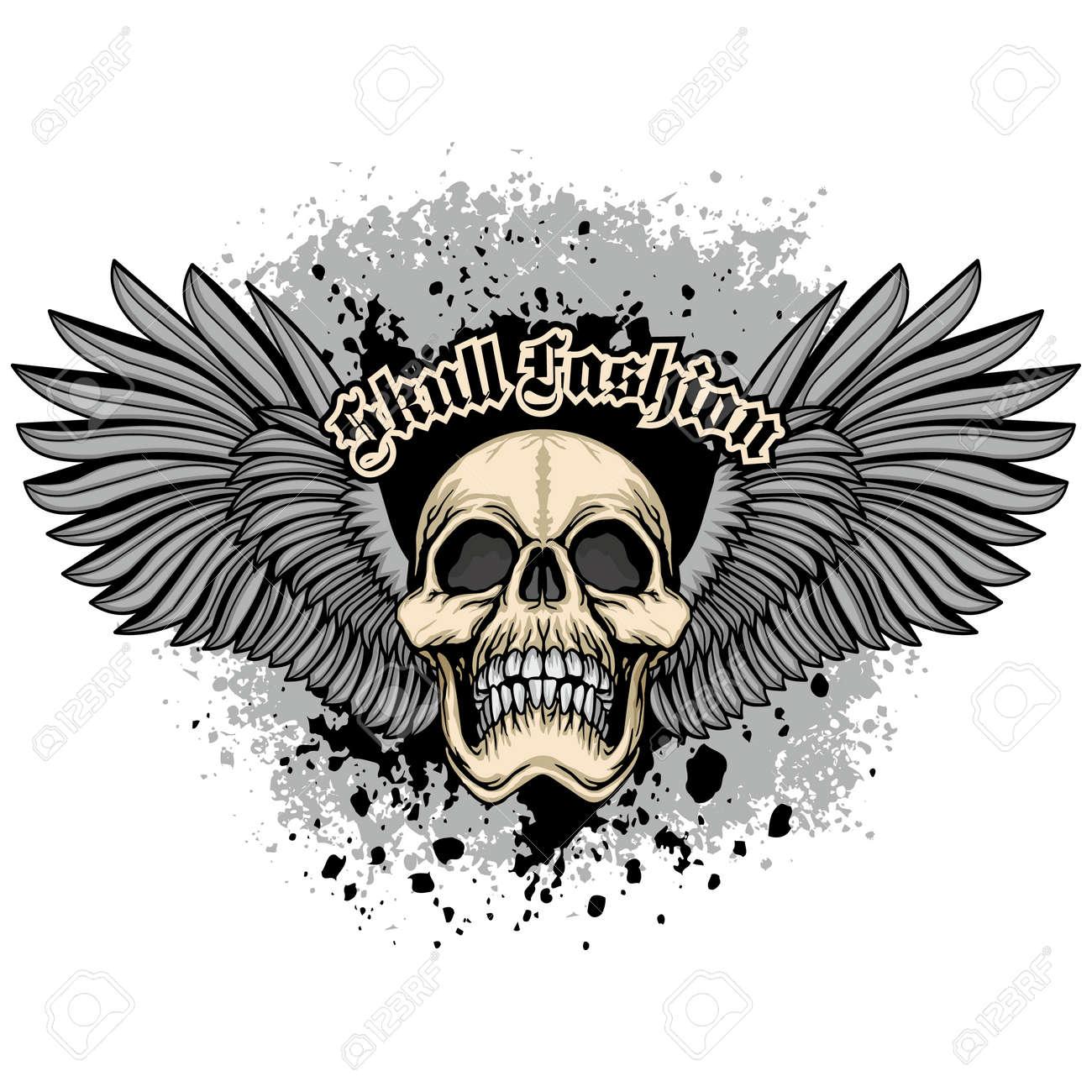 Gothic sign with skull, grunge vintage design t shirts - 170296998