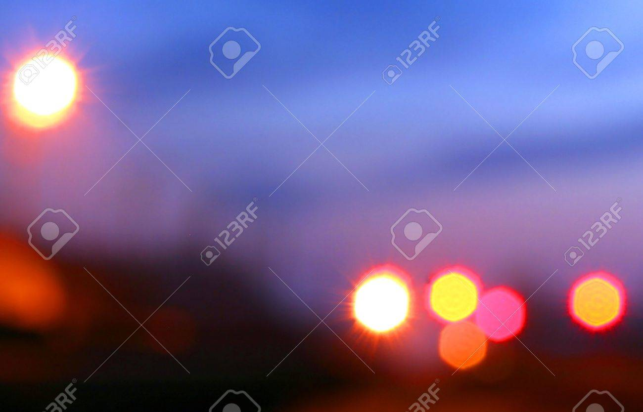 Diffused lights lamps on the background of night sky Stock Photo - 13634427