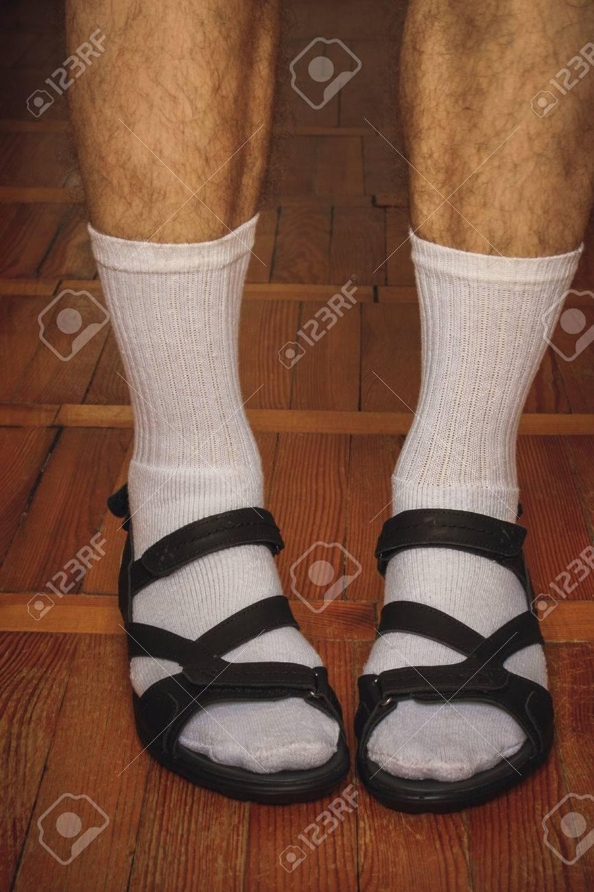 Socken sandalen und Socken und