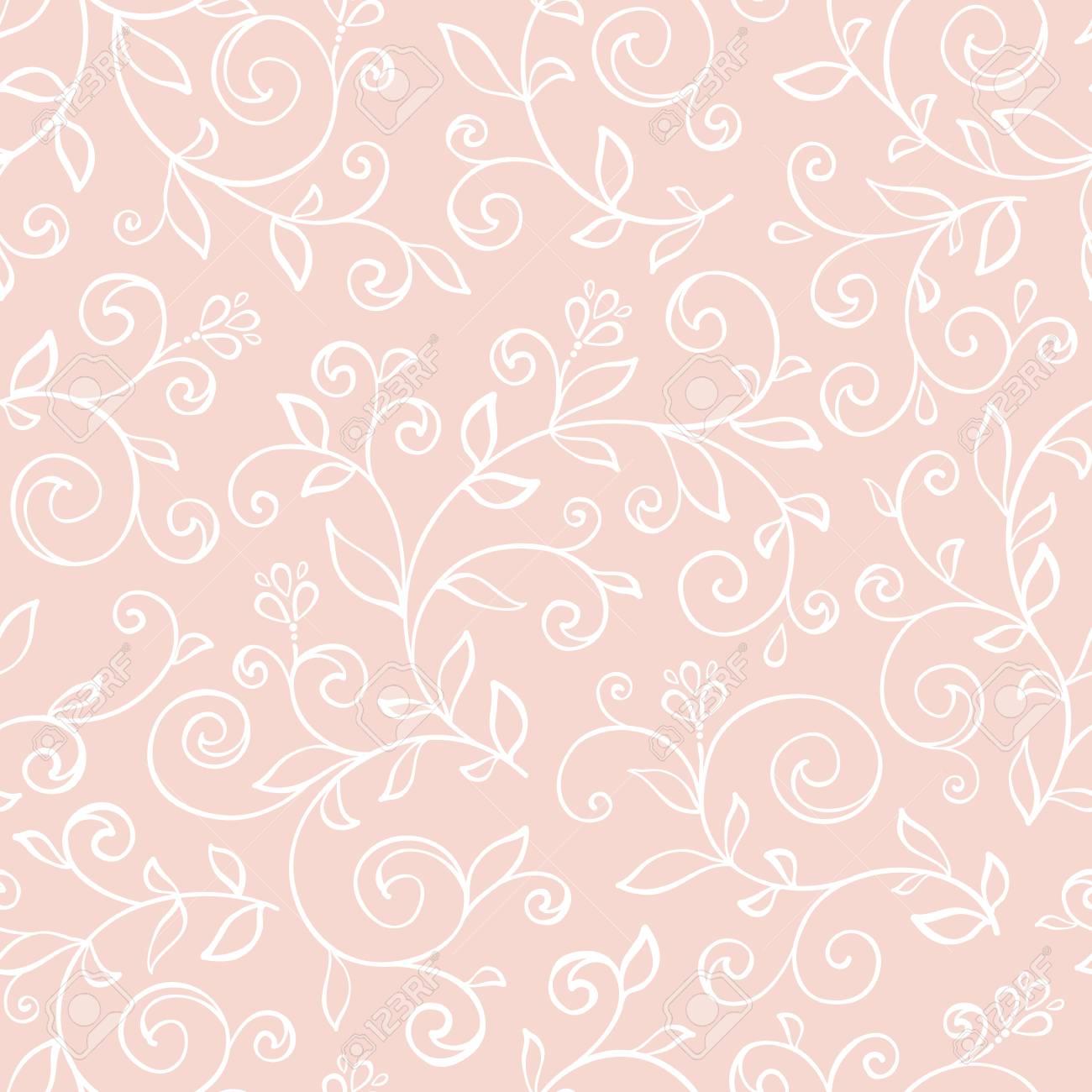 Seamless Avec Des Fleurs Decoratives Et Texture De Dentelle Papier