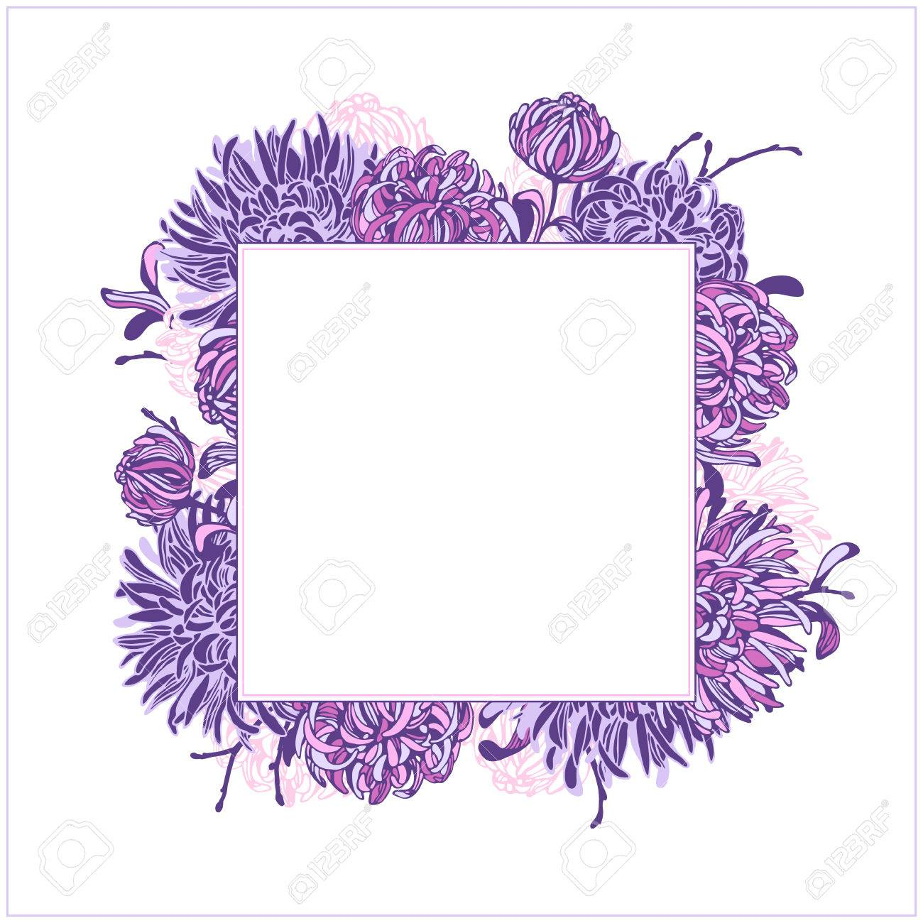 Vector Floral Elements And Frames. Hand Drawn Flowers And Branches ...