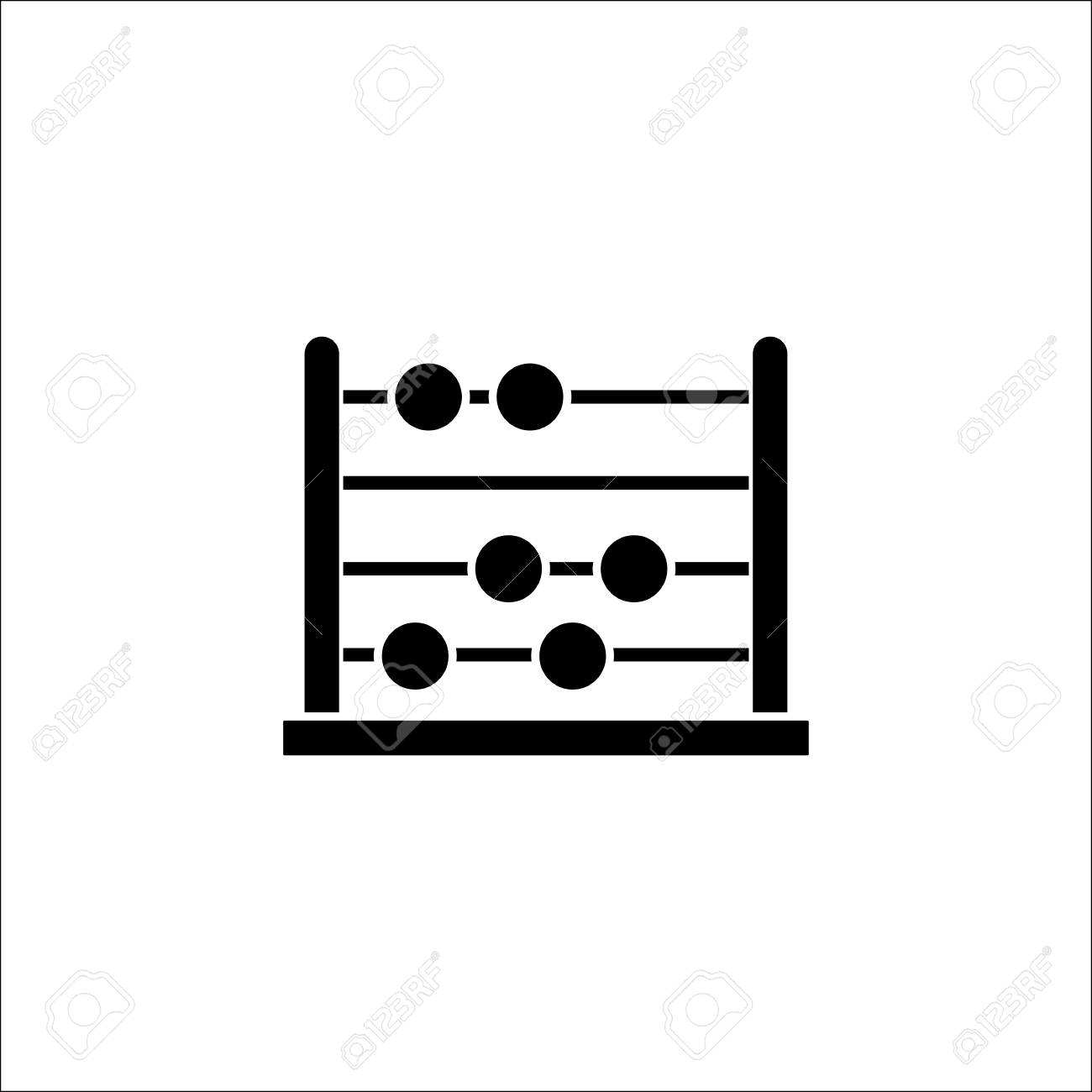 School abacus solid icon education and school element math school abacus solid icon education and school element math vector graphics a filled biocorpaavc Image collections