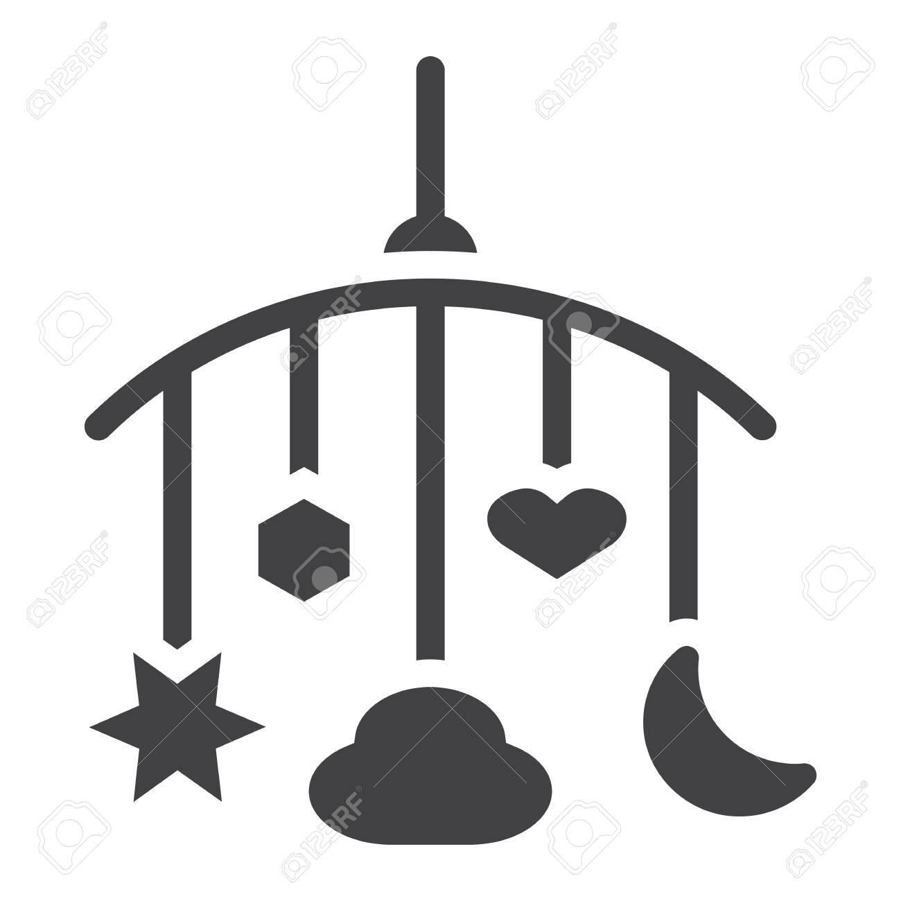 El Icono Sólido De Los Juguetes Colgantes, Pesebre Del Bebé Juega ...