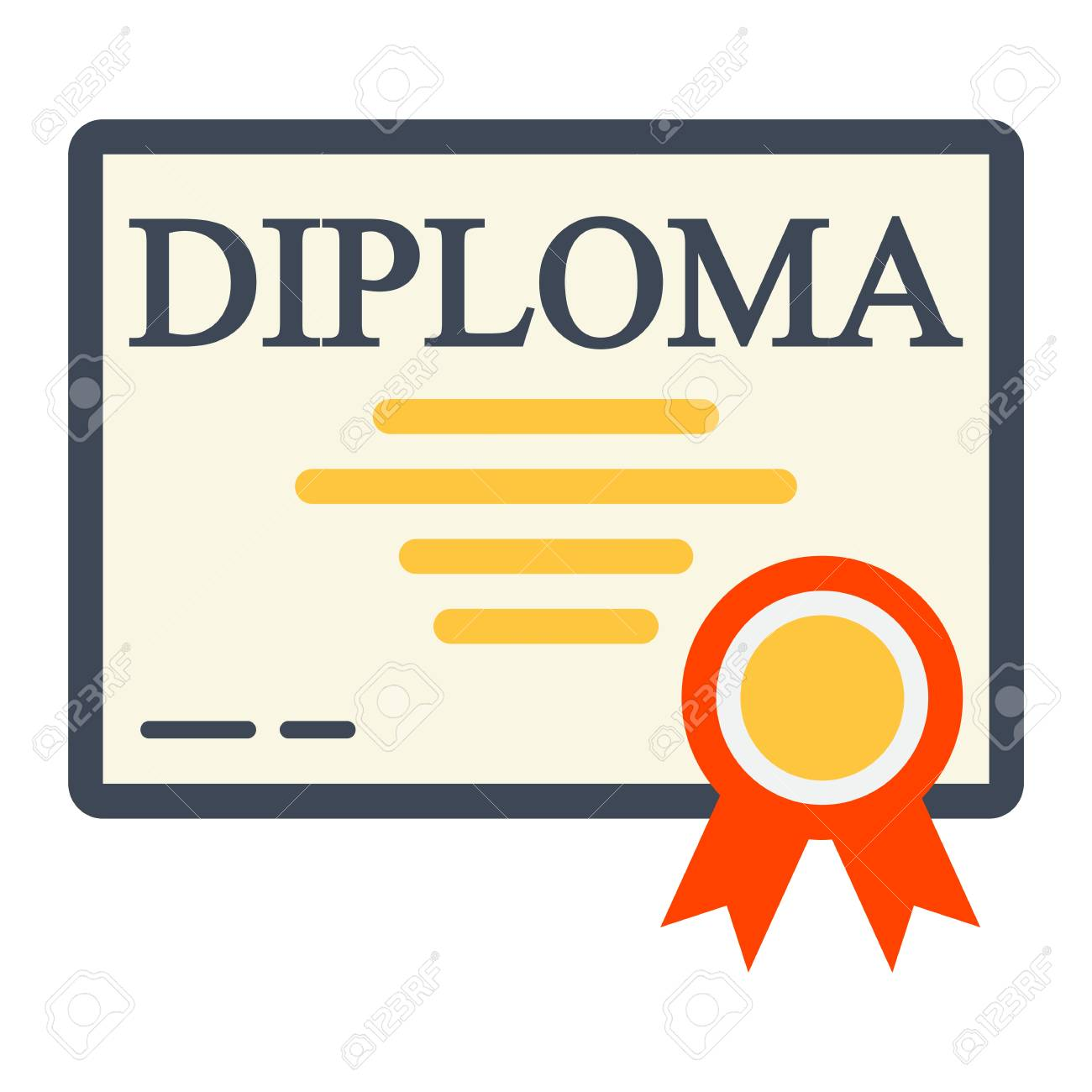diploma flat icon education and certificate graduation vector rh 123rf com vector certificate or diploma template vector certificate frame