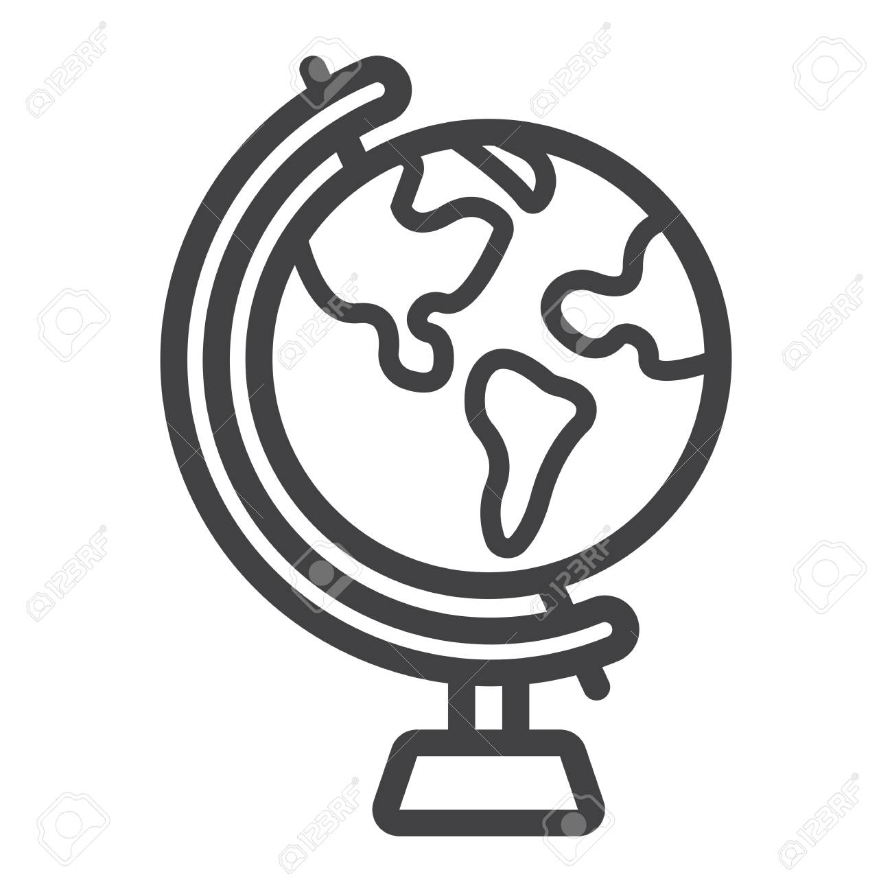 globe line icon world and geography vector graphics a linear rh 123rf com free eps vector graphics eps vector graphics free download