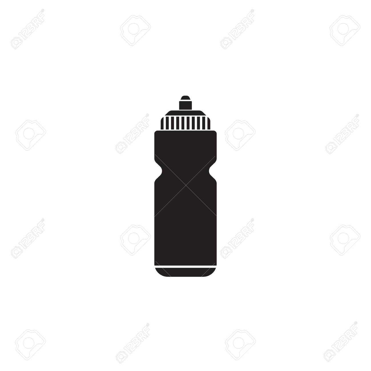 sport bottle water solid icon hydro flask vector graphics