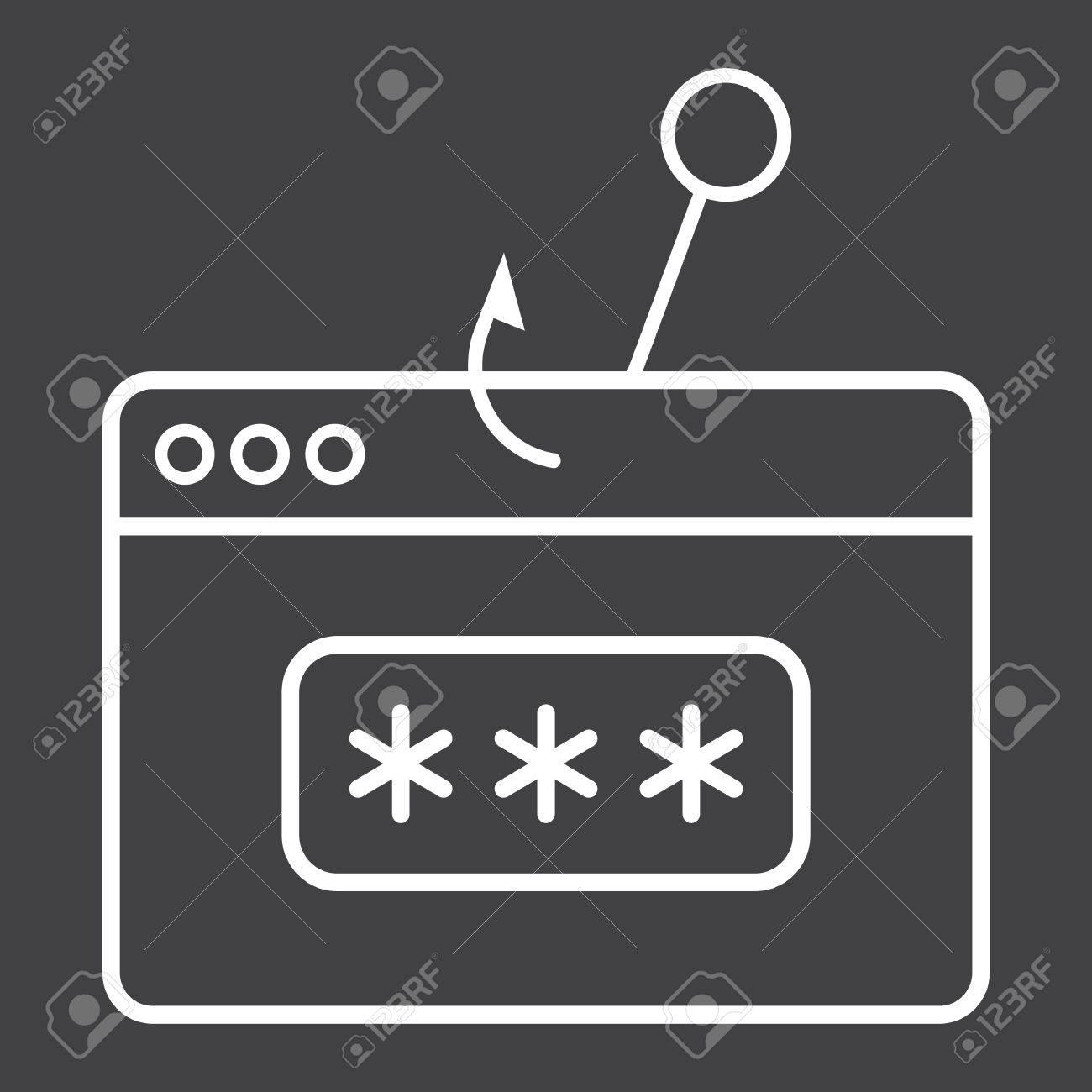 passwort phishing line symbol sicherheit und hack vektorgrafiken ein lineares muster auf schwarzem - Muster Passwort
