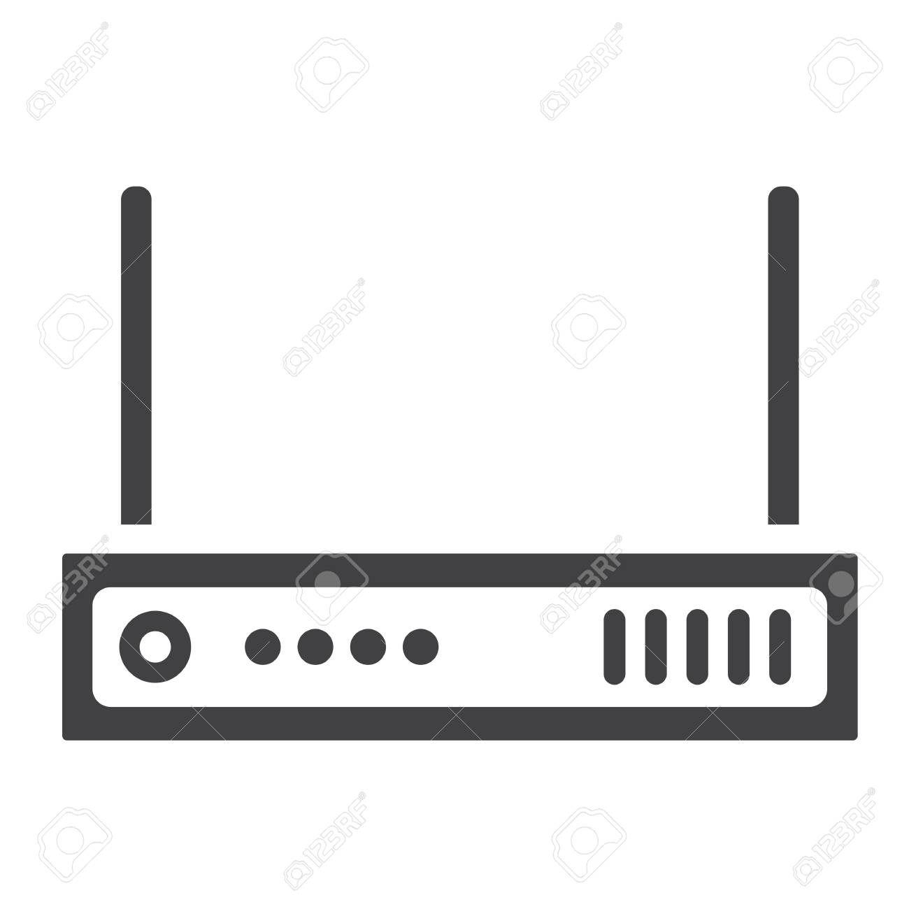 Router Solide Symbol, Internet Und WLAN, Vektorgrafik, Ein ...
