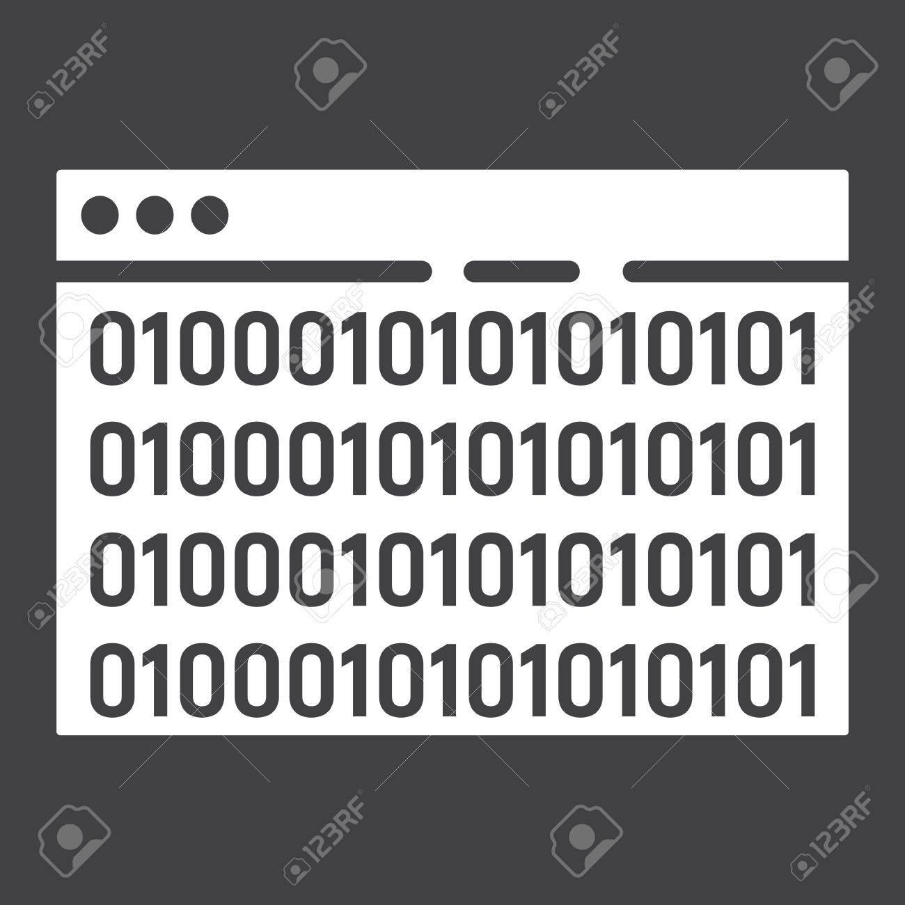 Custom coding glyph icon. - 83625465
