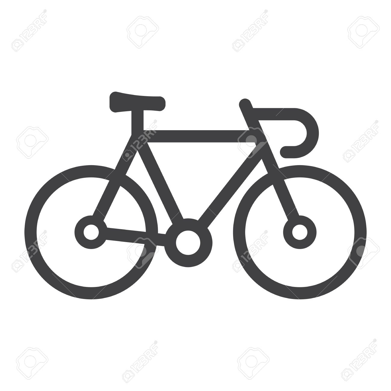 bicycle line icon transport and vehicle bike sign vector graphics rh 123rf com vector bicycle clip art vector bicycle parts