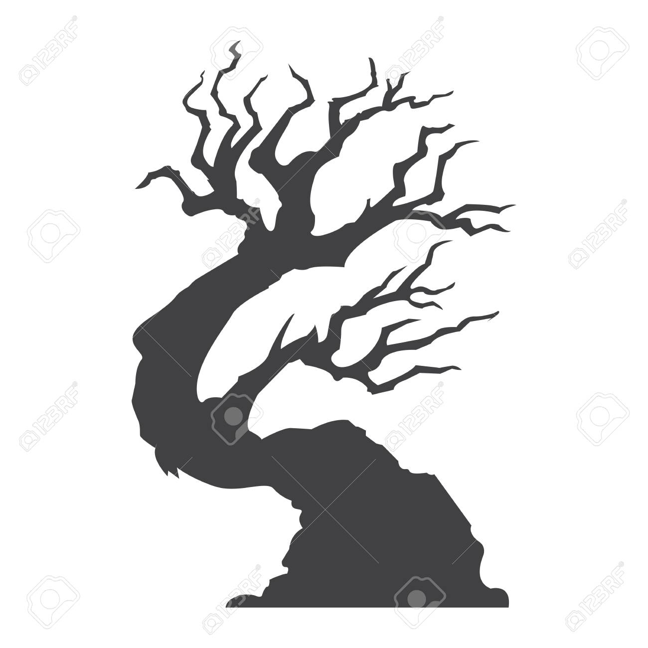 Halloween Tree Glyph Icon Halloween And Scary Tree Silhouette Royalty Free Cliparts Vectors And Stock Illustration Image 87677865