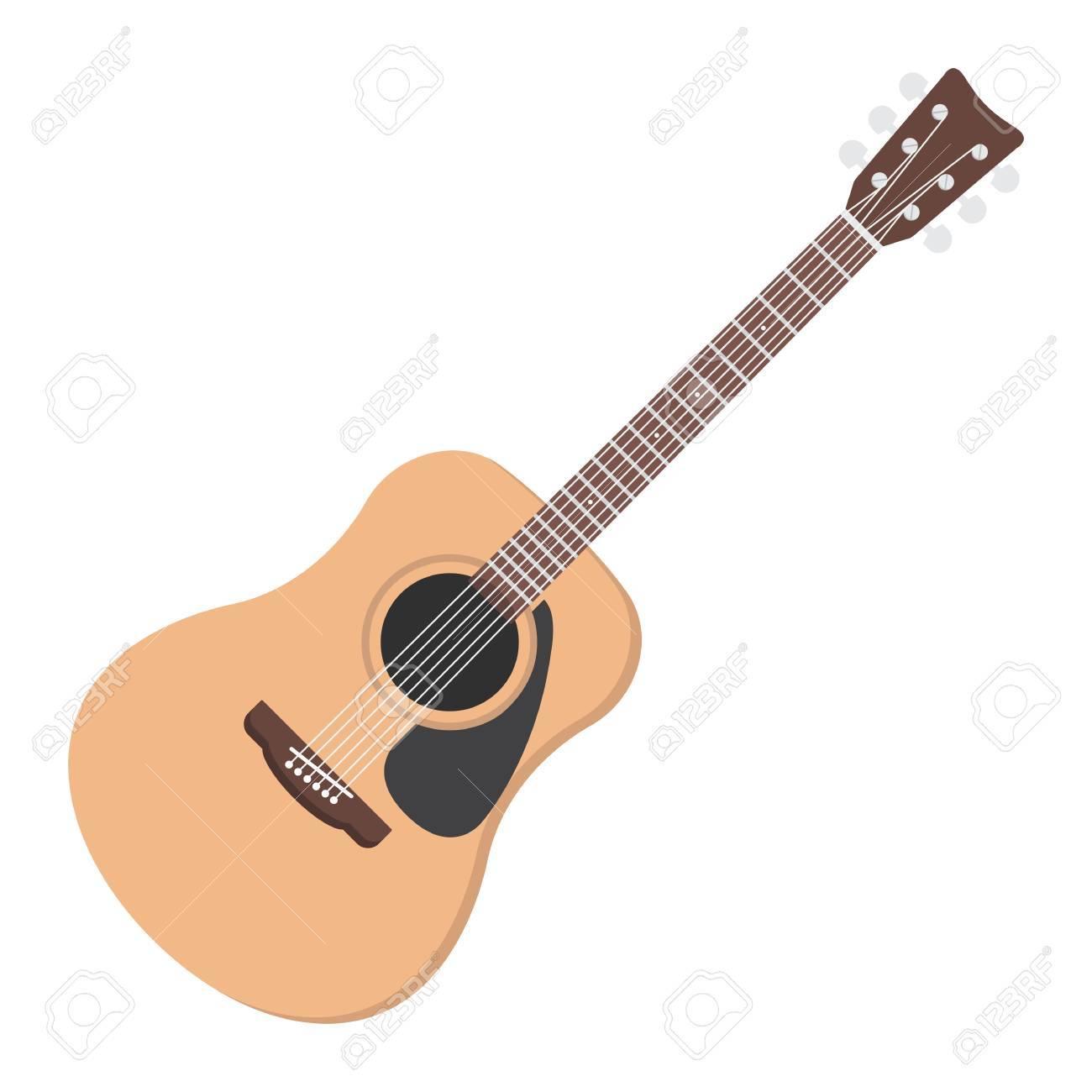 Icono, Música E Instrumento Planos De La Guitarra Acústica, Gráficos ...