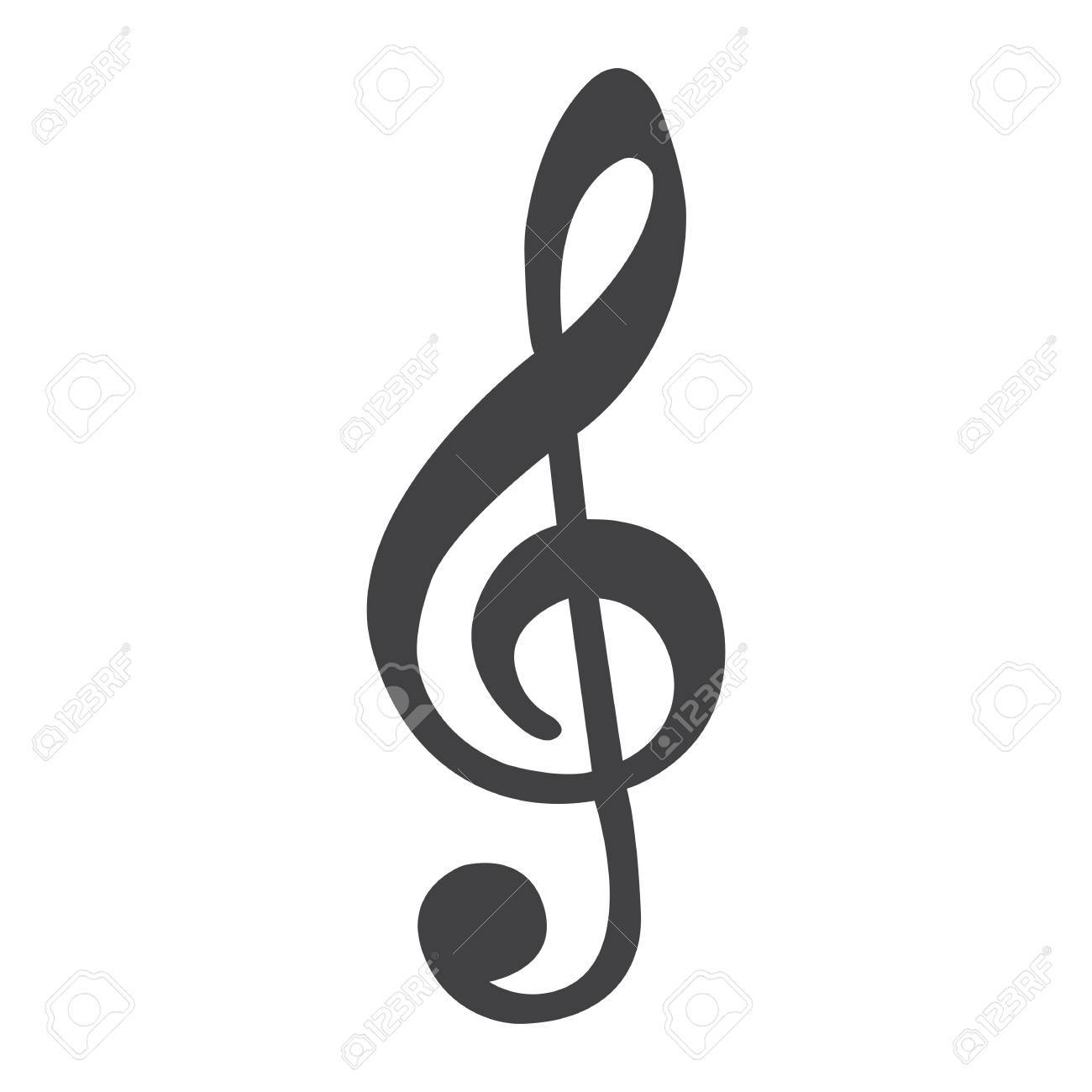 treble clef line icon music and instrument note sign vector rh 123rf com treble clef vector image download treble clef vector ai