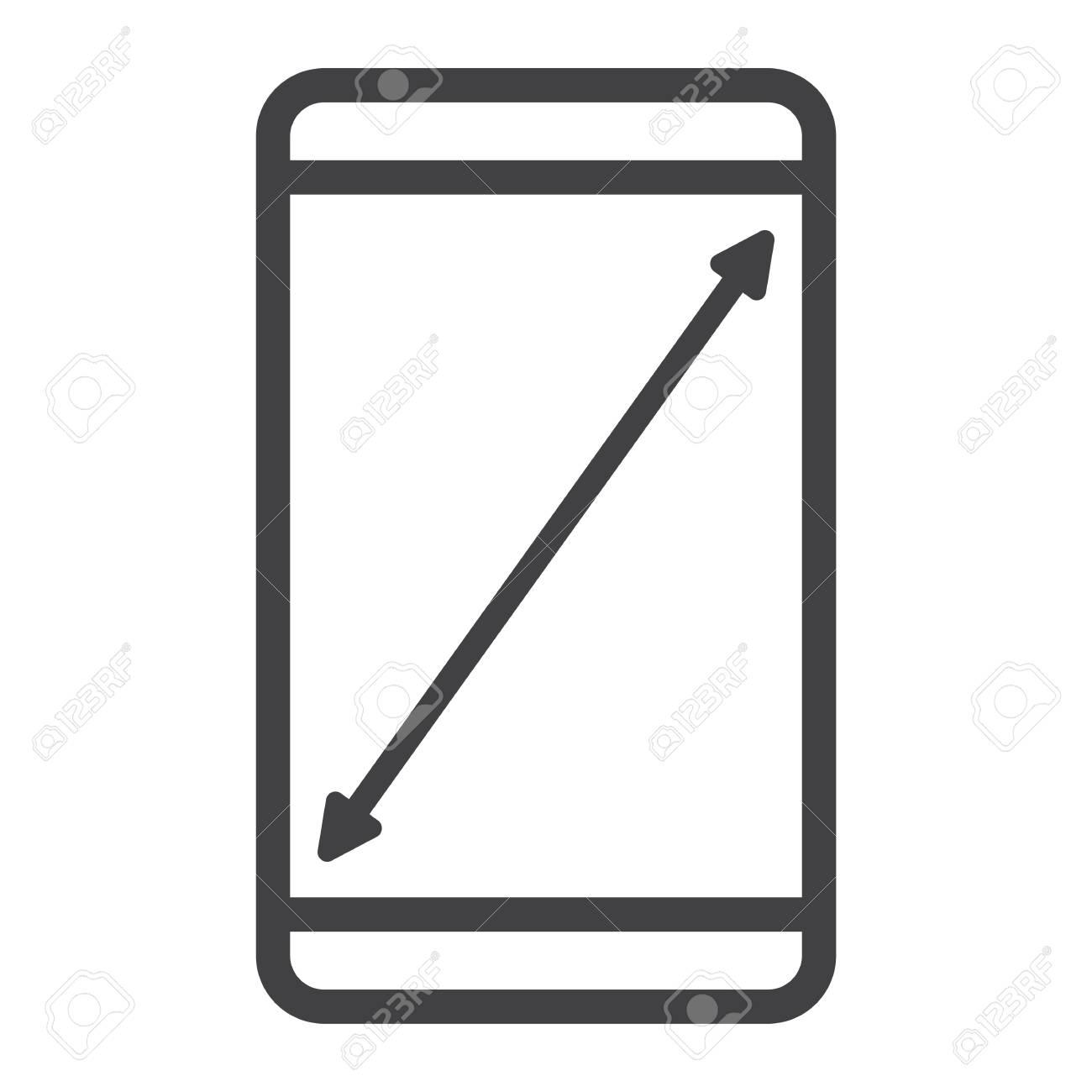 Redimensionner L Icone De Ligne D Ecran Mobile Web Et Mobile Afficher Des Graphiques Vectoriels De Signe Un Motif Lineaire Sur Fond Blanc Eps 10 Clip Art Libres De Droits Vecteurs Et Illustration