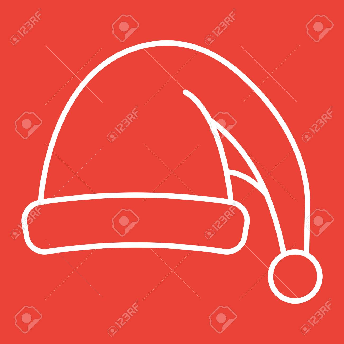 Santa hat line icon new year and christmas xmas sign vector santa hat line icon new year and christmas xmas sign vector graphics a biocorpaavc