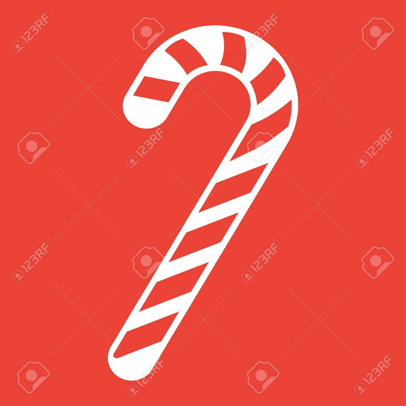 Christmas Candy Cane.Christmas Candy Cane Glyph Icon New Year And Christmas Xmas