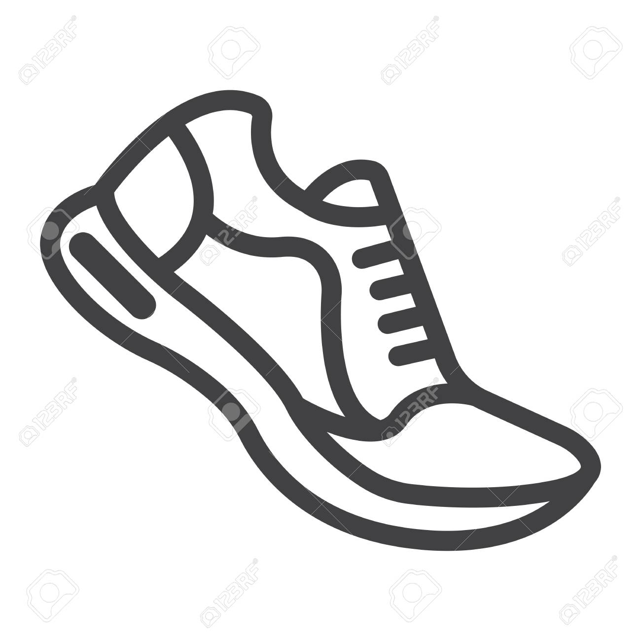 Graphics Running Shoes SportGym Vector Line Sign IconFitness And eCdBxo