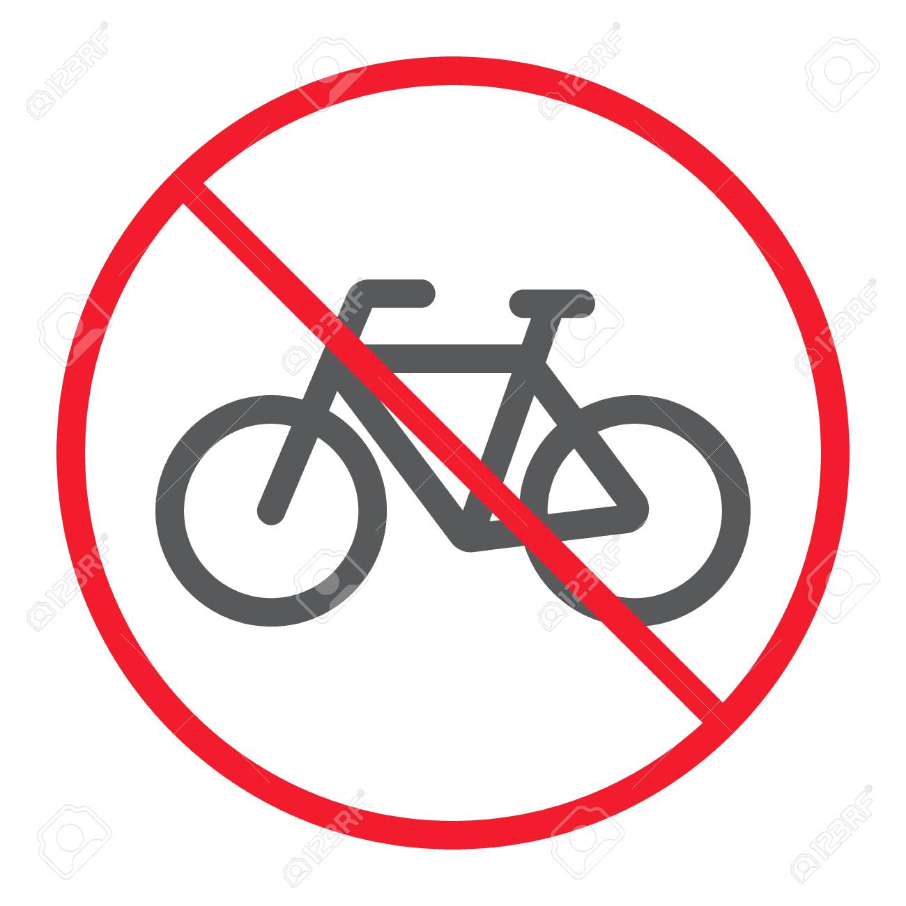 Tr093 Traffic Sign No Bicycle Bikes Signs 400mm X 400mm 5mm Heavy Duty Foamex Foamboard Safety Signs Signals Signs Safety Signs Signals