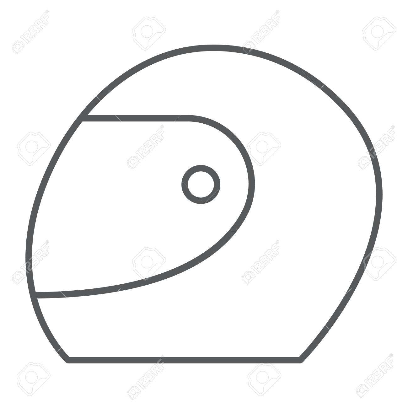 106950472 racing helmet thin line icon protection and motorsport motorcycle helmet sign vector graphics a line racing helmet thin line icon, protection and motorsport, motorcycle