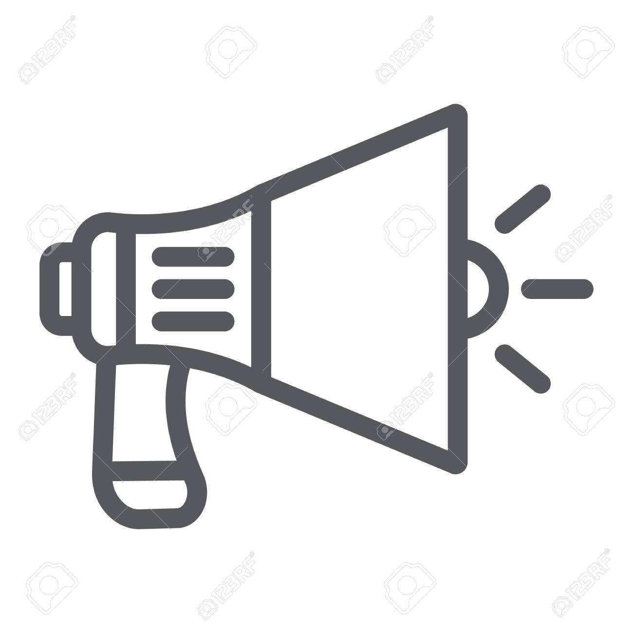 megaphone line icon announcement and speaker loudspeaker sign royalty free cliparts vectors and stock illustration image 124773590 megaphone line icon announcement and speaker loudspeaker sign